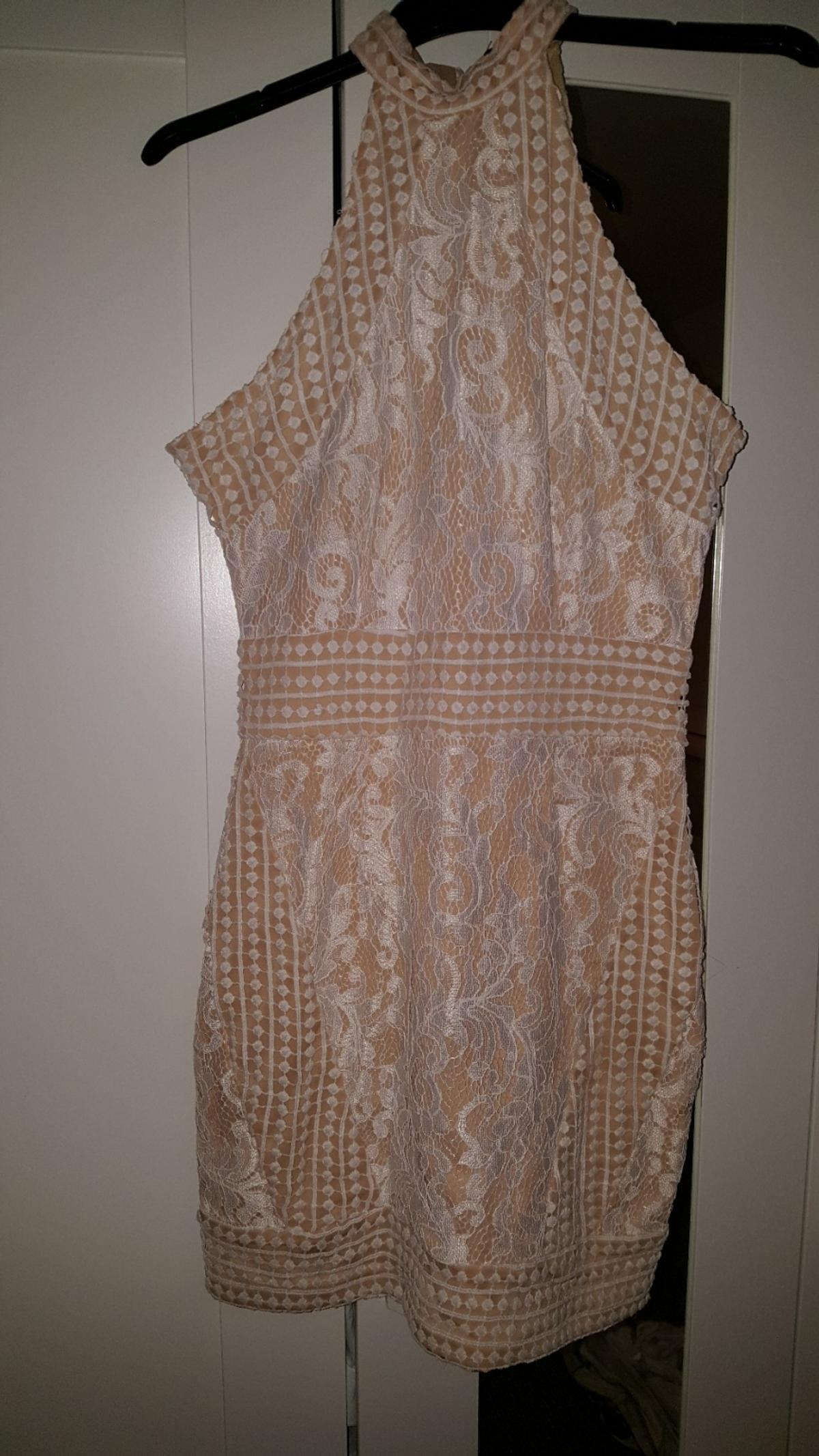 beige and white dress size 10 from pretty little thing worn once excellent condition