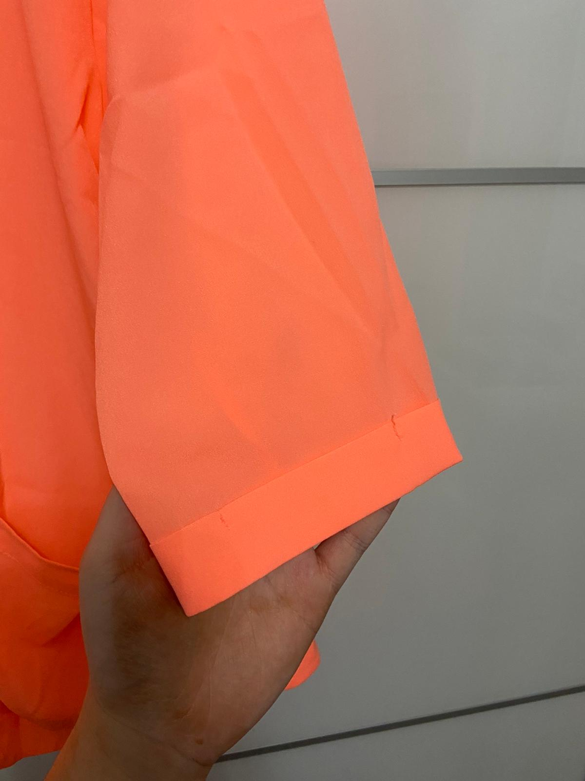 The colour is more coral/fluorescent pink in real life, but pictures appear orange Perfect condition Has pockets 3/4 length sleeves Worn once  ALL MY ITEMS COME FROM A CLEAN NON PET NON SMOKING HOME ...  CASH ON COLLECTION  NO RETURNS