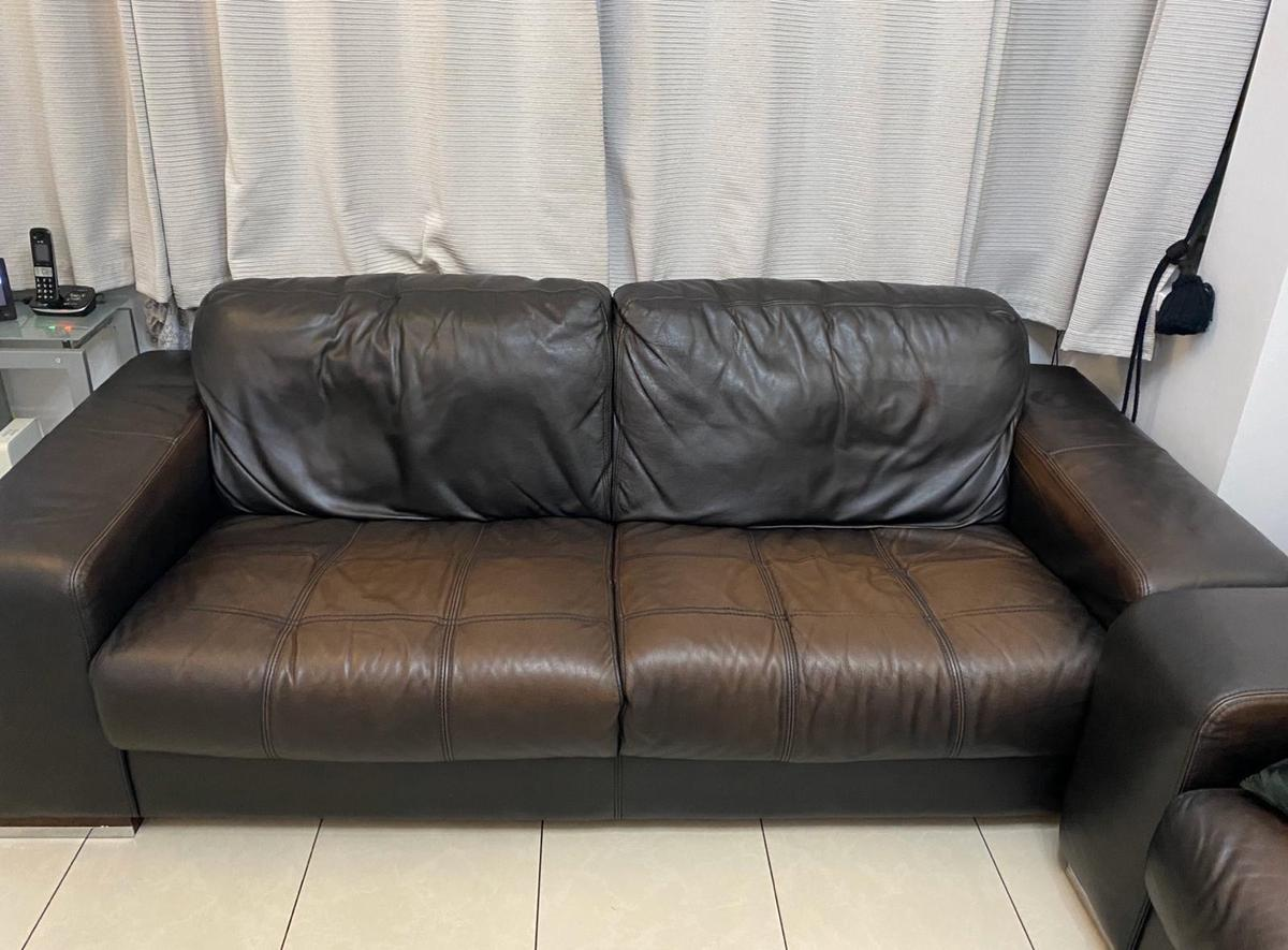 Black sofas, however due to it being used for couple of years, the colour has faded.  x1 One seater sofa x2 Four seater sofa (there is two of these sofas)  Willing to sell sofas separately, as well.  Price is negotiable, however, must be resonable.