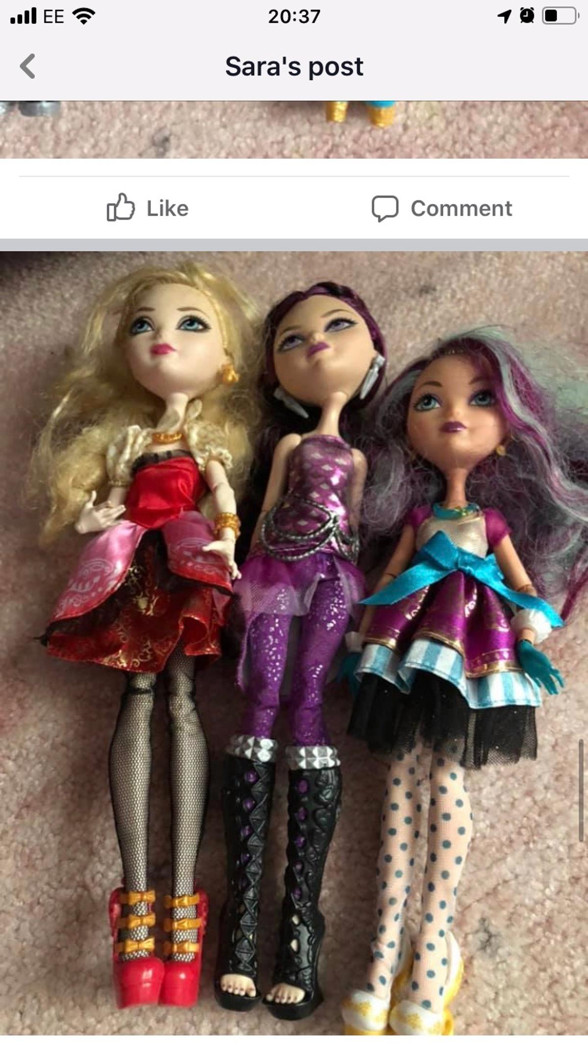 Ever after high dolls assorted £5 for the bundle