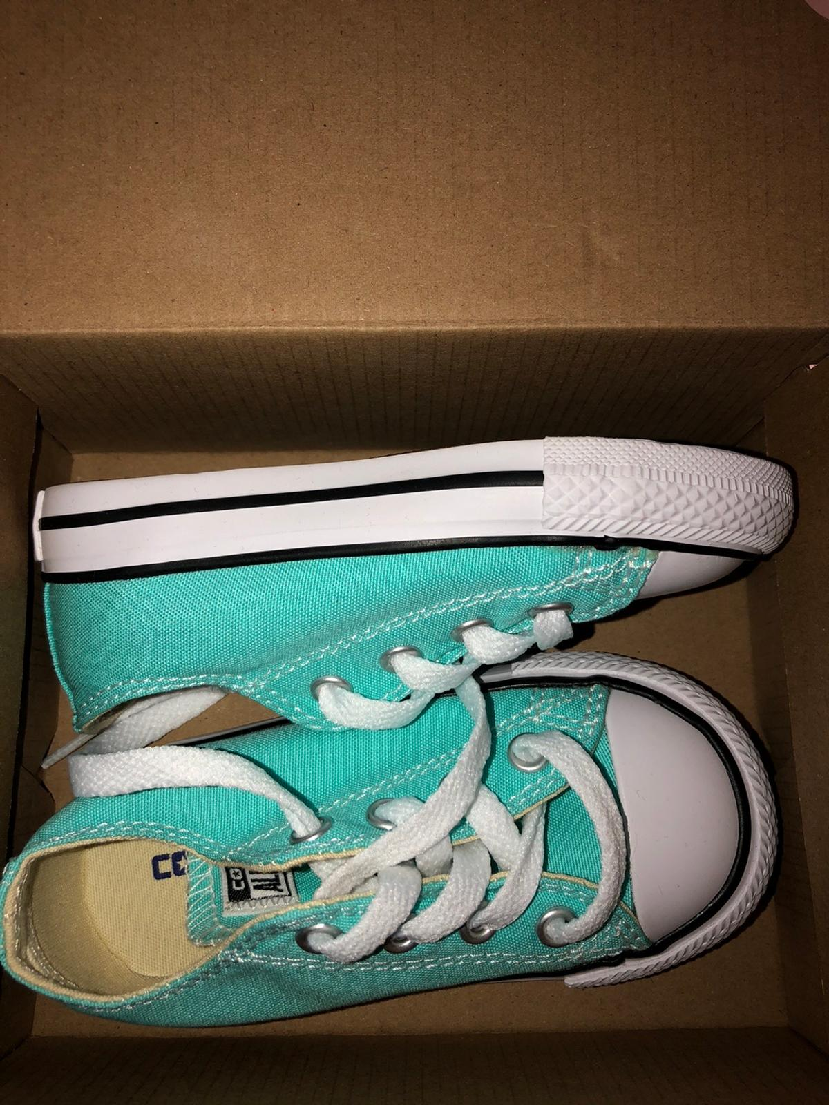 Brand new turquoise size 6 infant girls converse All new in box Collection from By howdles butchers Postage available for £3 if paid via PayPal