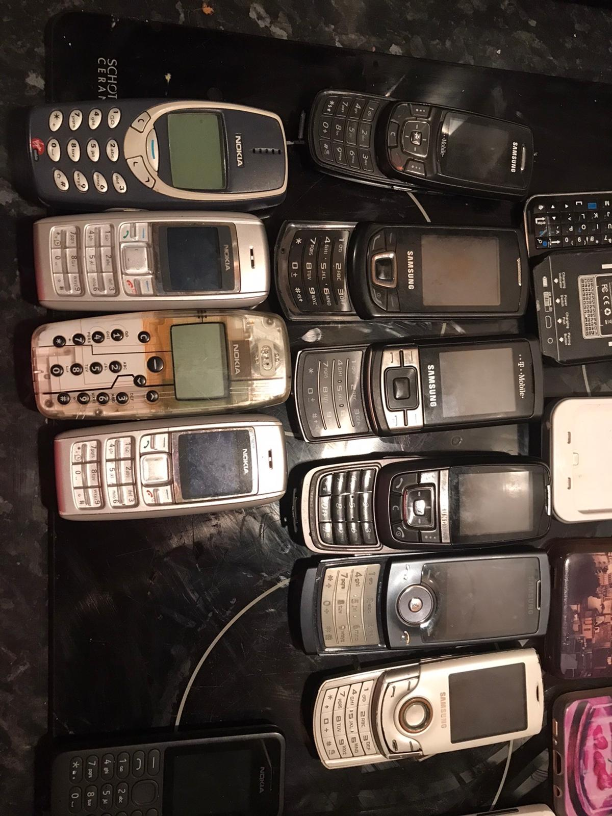 Loads of phones , most work, couple I don't have chargers for. Couple of them has boxes and chargers. Few old cases and little attachments. Open to offers! Collection Trimdon