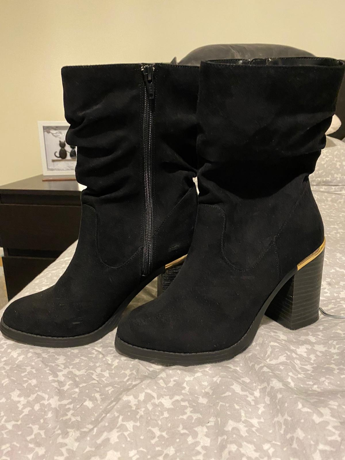 New look size 6 ruched ankle boots. Worn once.