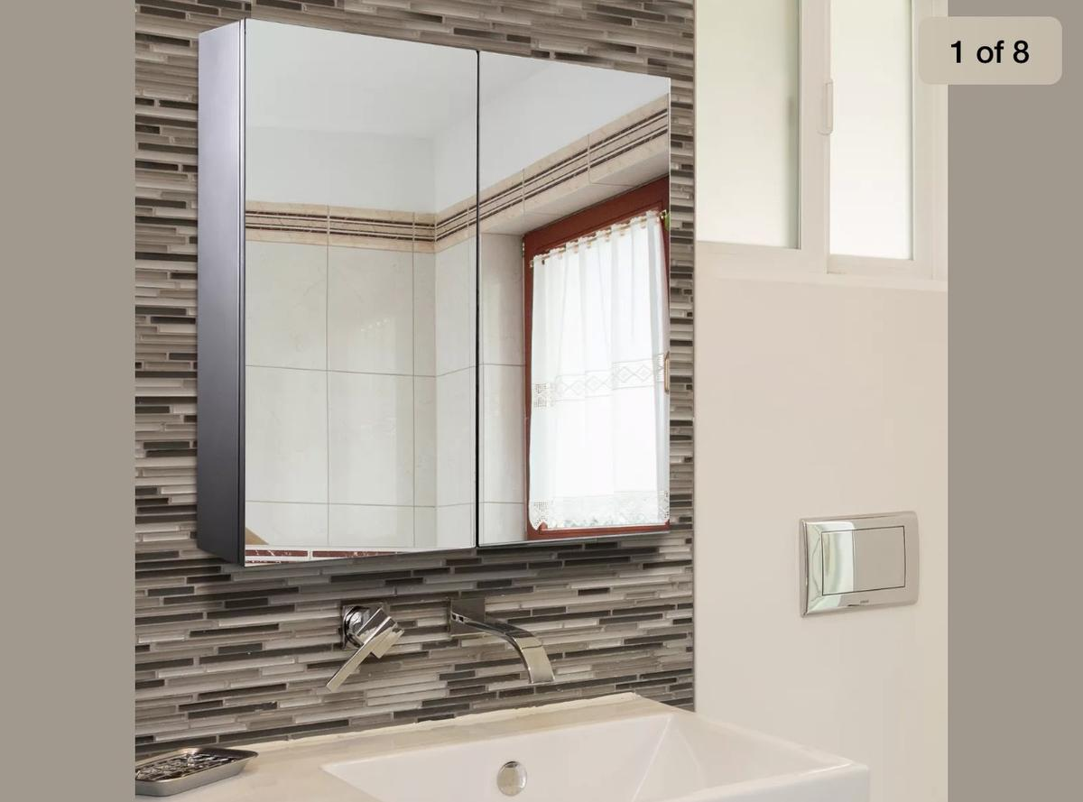 Brand new bathroom cabinet RRP £79.99 Please see the picture for measurments Sillver outing Collection WN8 6AU