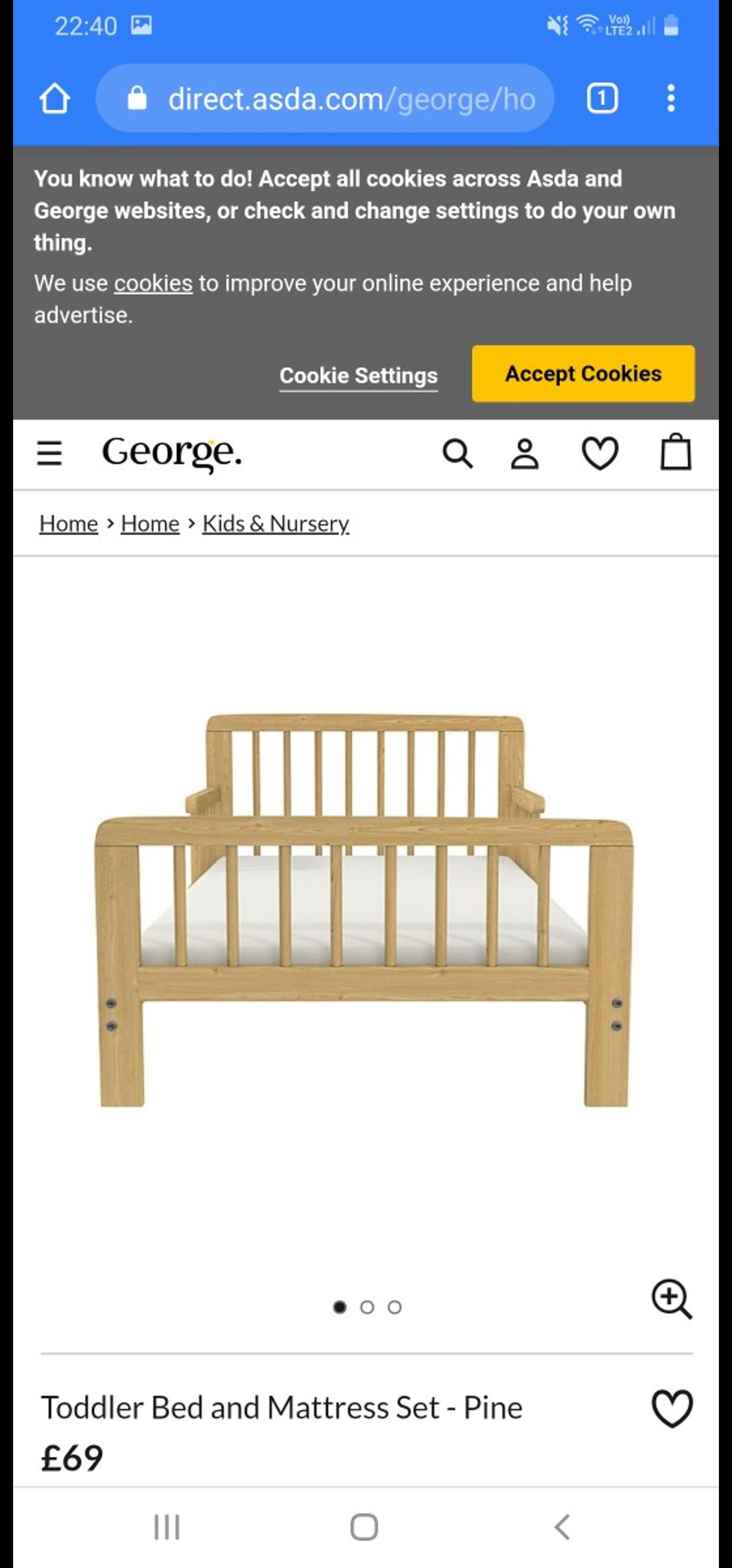 Immaculate toddler bed and mattress. Bought a few months ago for my son but he won't sleep in his own room. Not been slept in but has been built so no box. can dismantle before collecting.