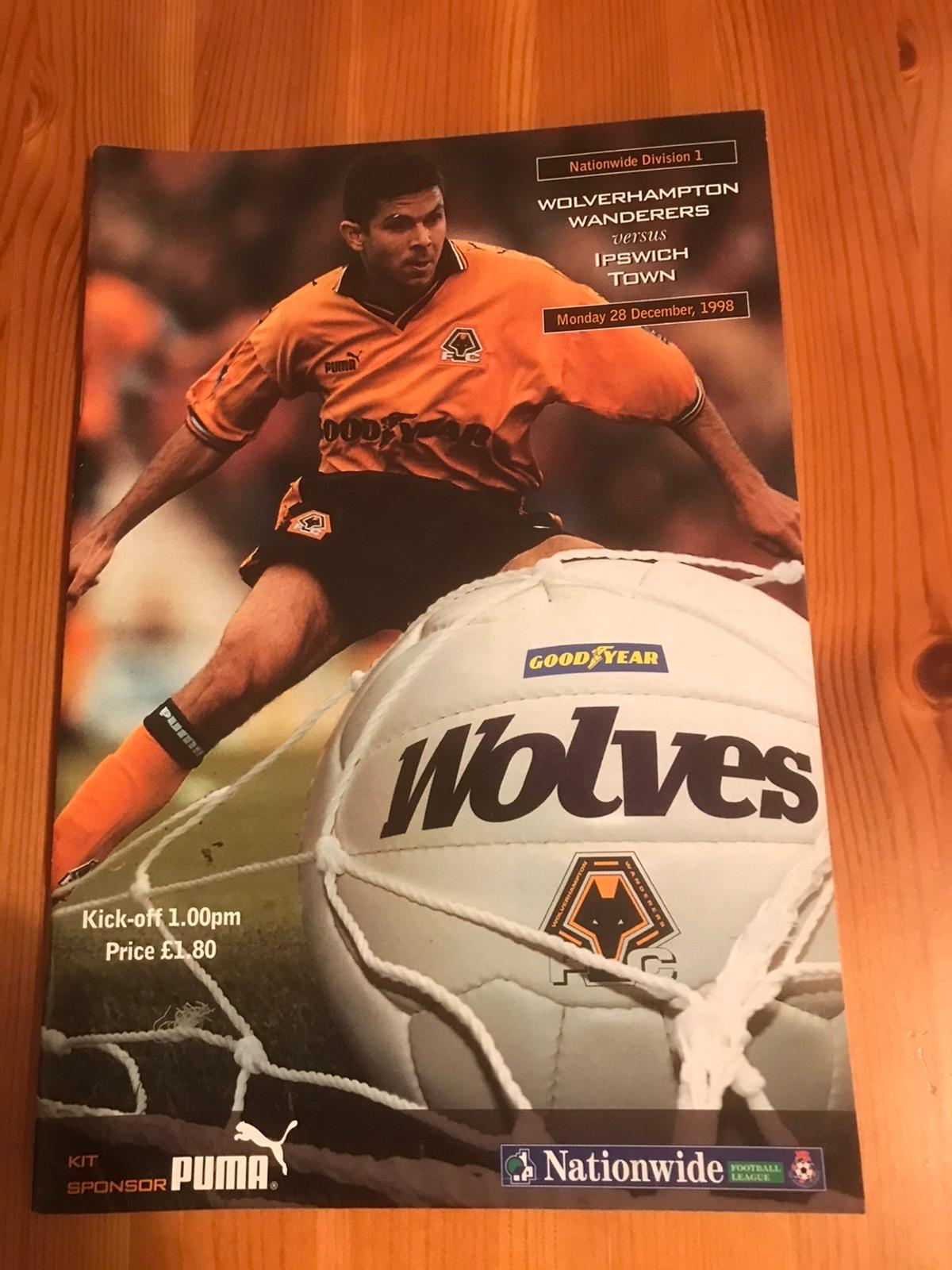Excellent condition programme for Nationwide Division One match played on 28 Dec 1998 £1 postage or collect