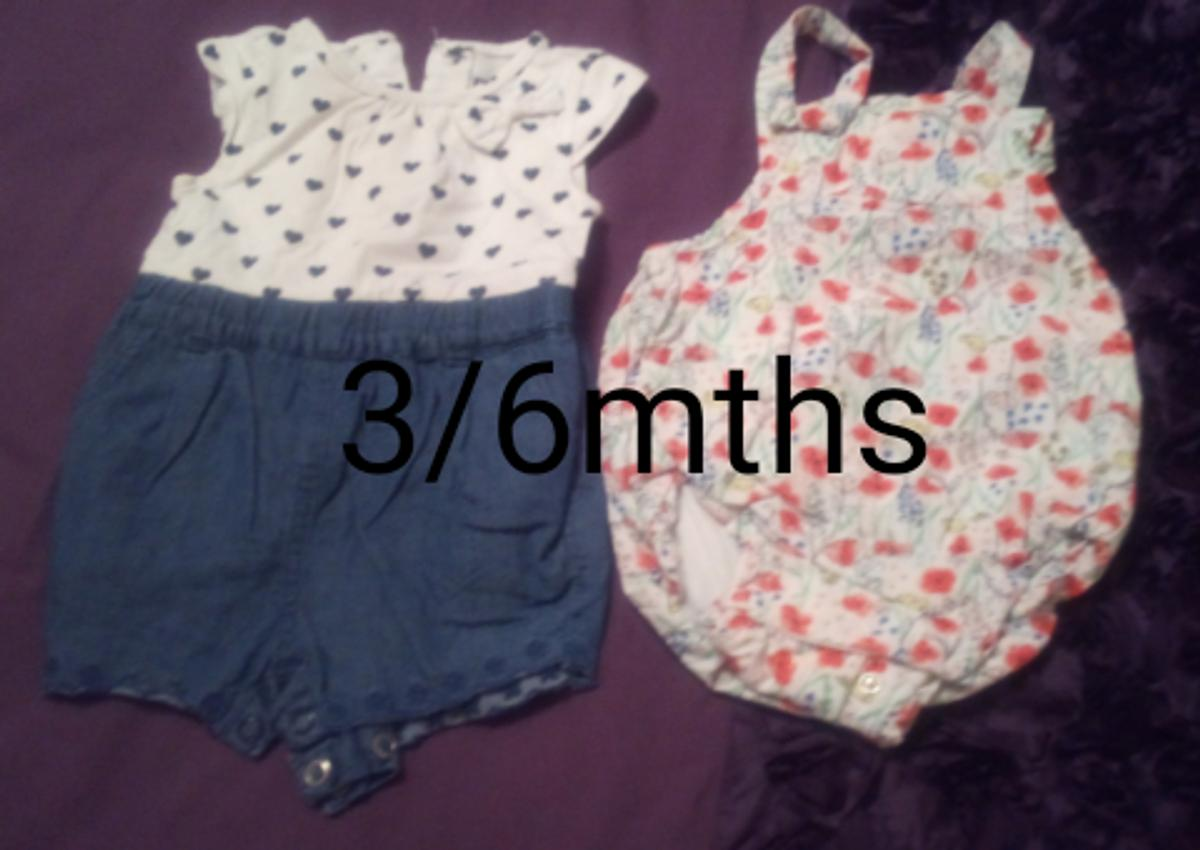 Baby Girls Rompers Both in good condition From smoke and pet free home Pick up Normanton May be able to deliver locally Can post 3/6mths £1 for both Lots more items for sale please take a look