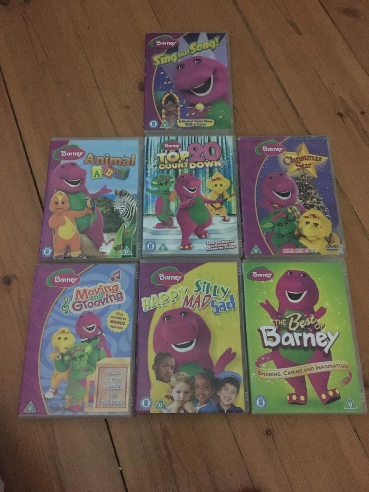 7 Pre owned selection of Barneys cd. Includes Animal ABC and moving and grooving. Please see photos.