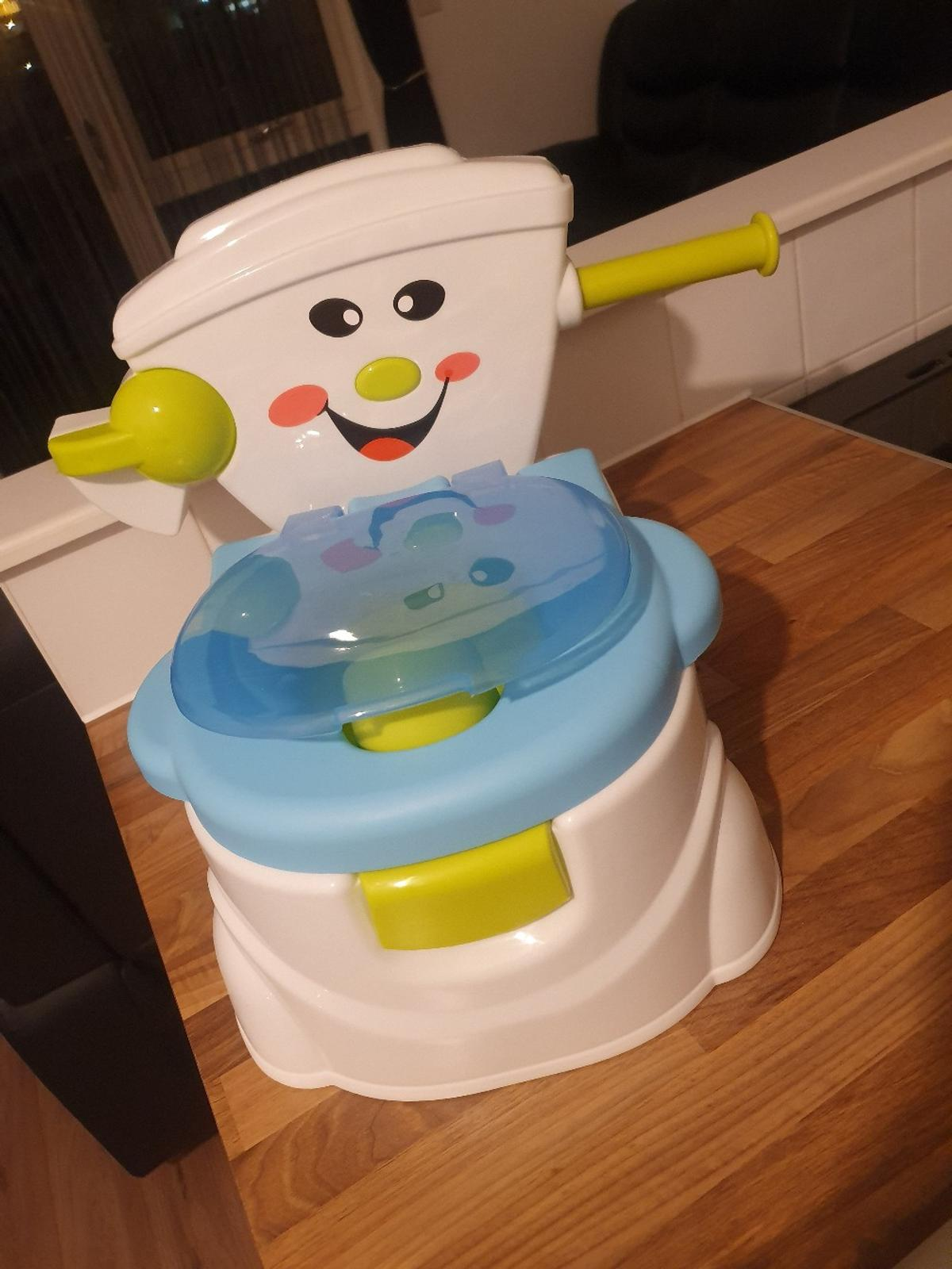It comes with a loo roll handle great way to do potty training bought from argos for 24.99 pick up only