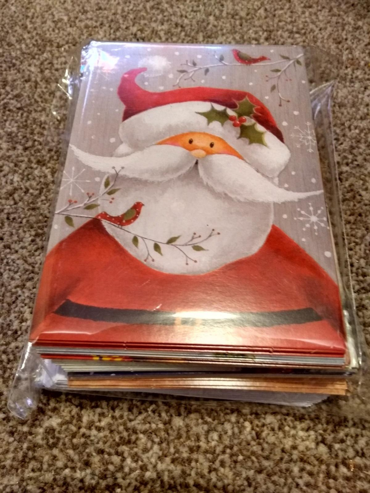 Brand new, sealed pack of 40 Christmas Cards - Get prepared for Christmas 2020 for a fraction of the price! - 40 cards in 10 different designs - Greeting 'Merry Christmas and A Happy New Year' - Envelopes included.