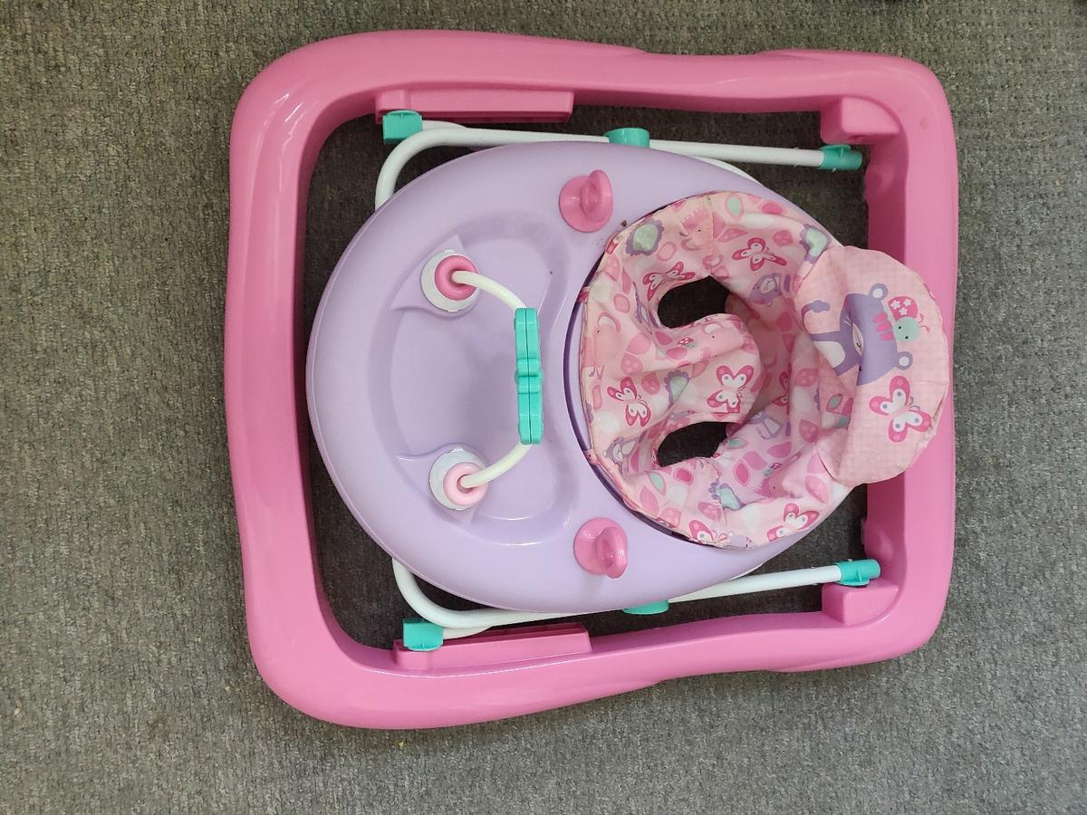 baby walker used a handful of times, baby not interested! folds down for storage or transport. great condition. smoke free, pet free home. collection from Litherland L21. £10 bought for £30.