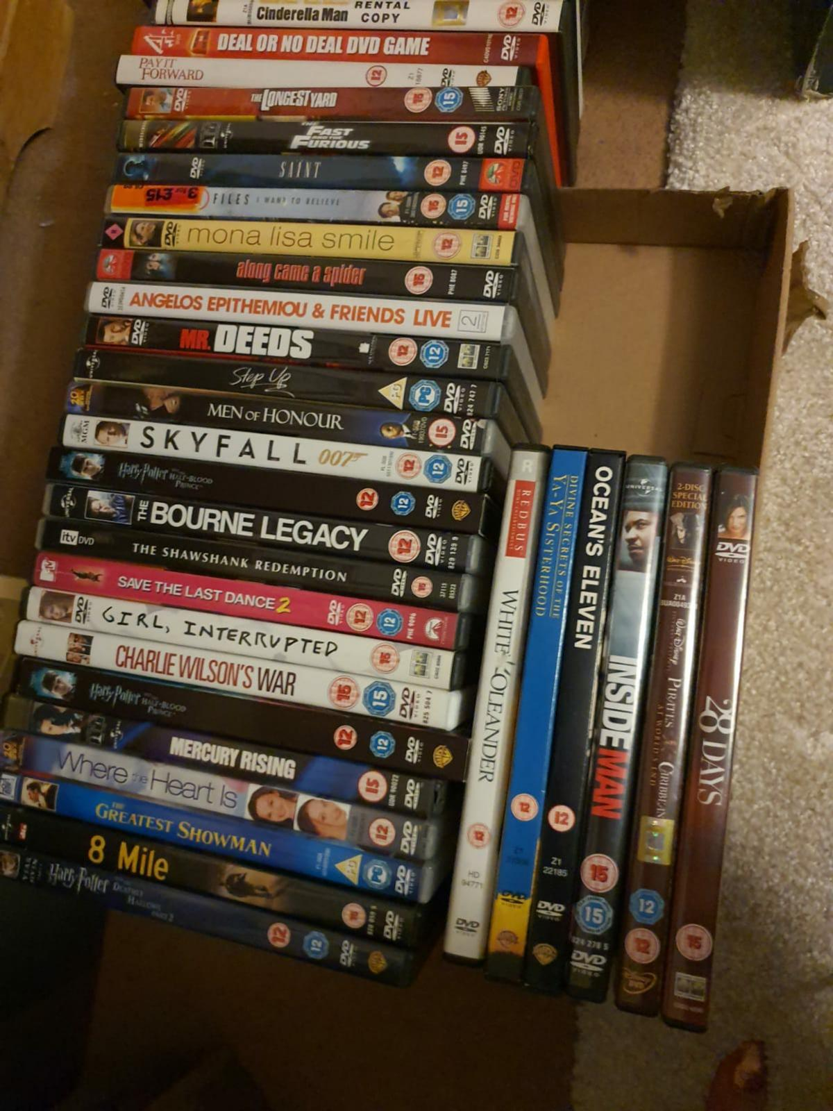 DVD bundle joblot. Condition is Used. Broad variety including Disney, Harry Potter, Old Boy etc. Collection only.