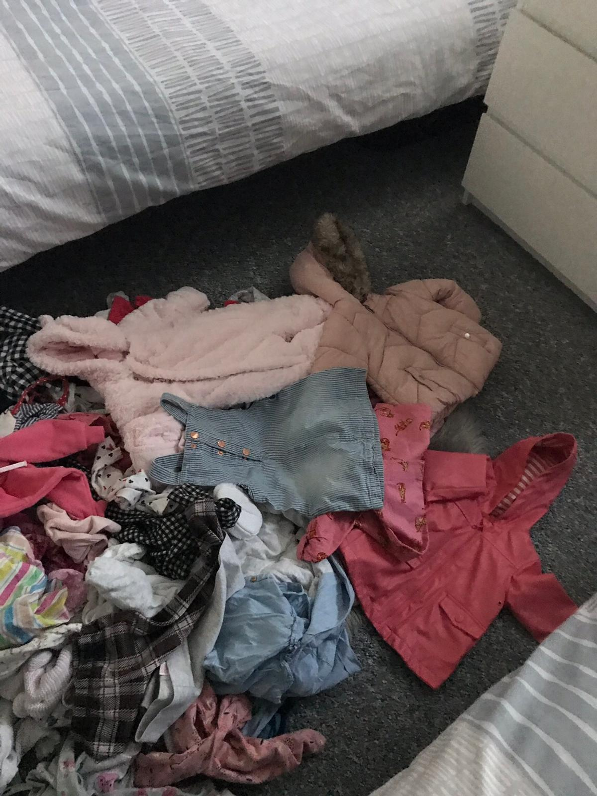 Ages 3/6 months some 6/9 things includes pjs sleep suits coats denim jacket and loads of outfits collection Bestwood park