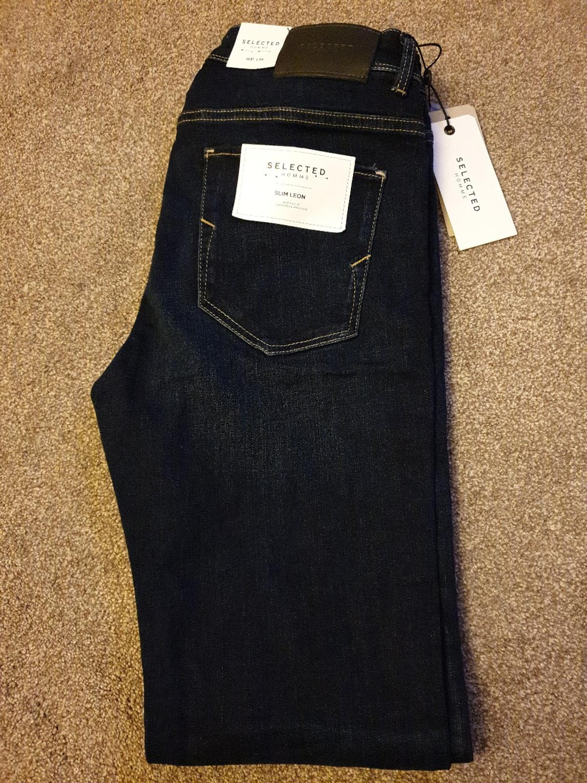 Selected Homme Leon Slim Jeans in Dark Blue Denim 31W/34L RRP £65. still selling for that today, grab a bargain Condition is New with tags. Dispatched with Royal Mail 1st Class.