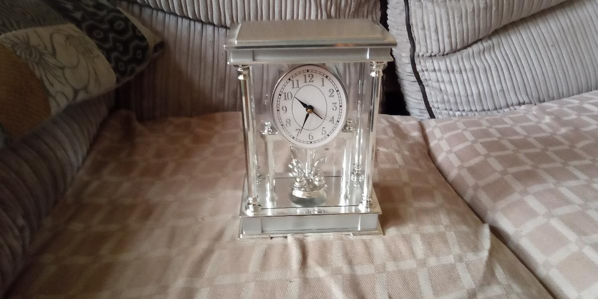 CLOCK ALARM PENDANT THE  DON'T MOVE  SILVER PLASTIC IT'S COMES WITH BATTERIES NO TIME WASTERS PLEASE BUYER TO COLLECT ONCE SOLD IF NO CORRESPONDENCE WITHIN 24 HOURS ITEM WILL BE RELISTED BROUGHT AS SEEN