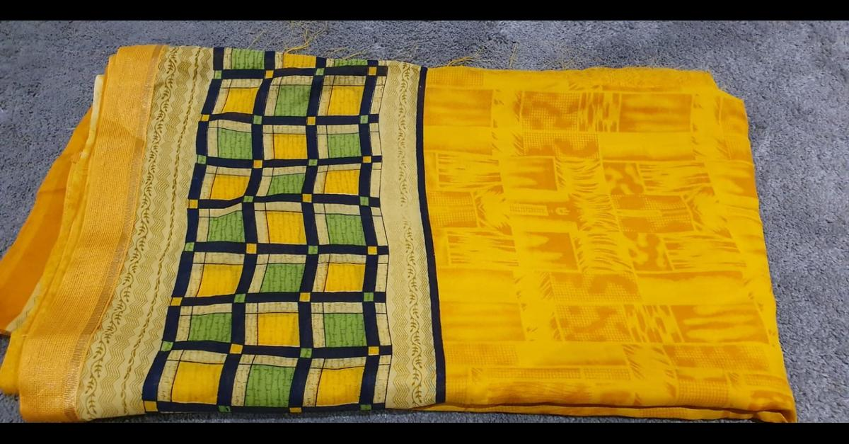 brand new yellow sari with unstitiched blouse piece can post but buyer has to pay postage Check out my other items - selling saris, jewellery etc