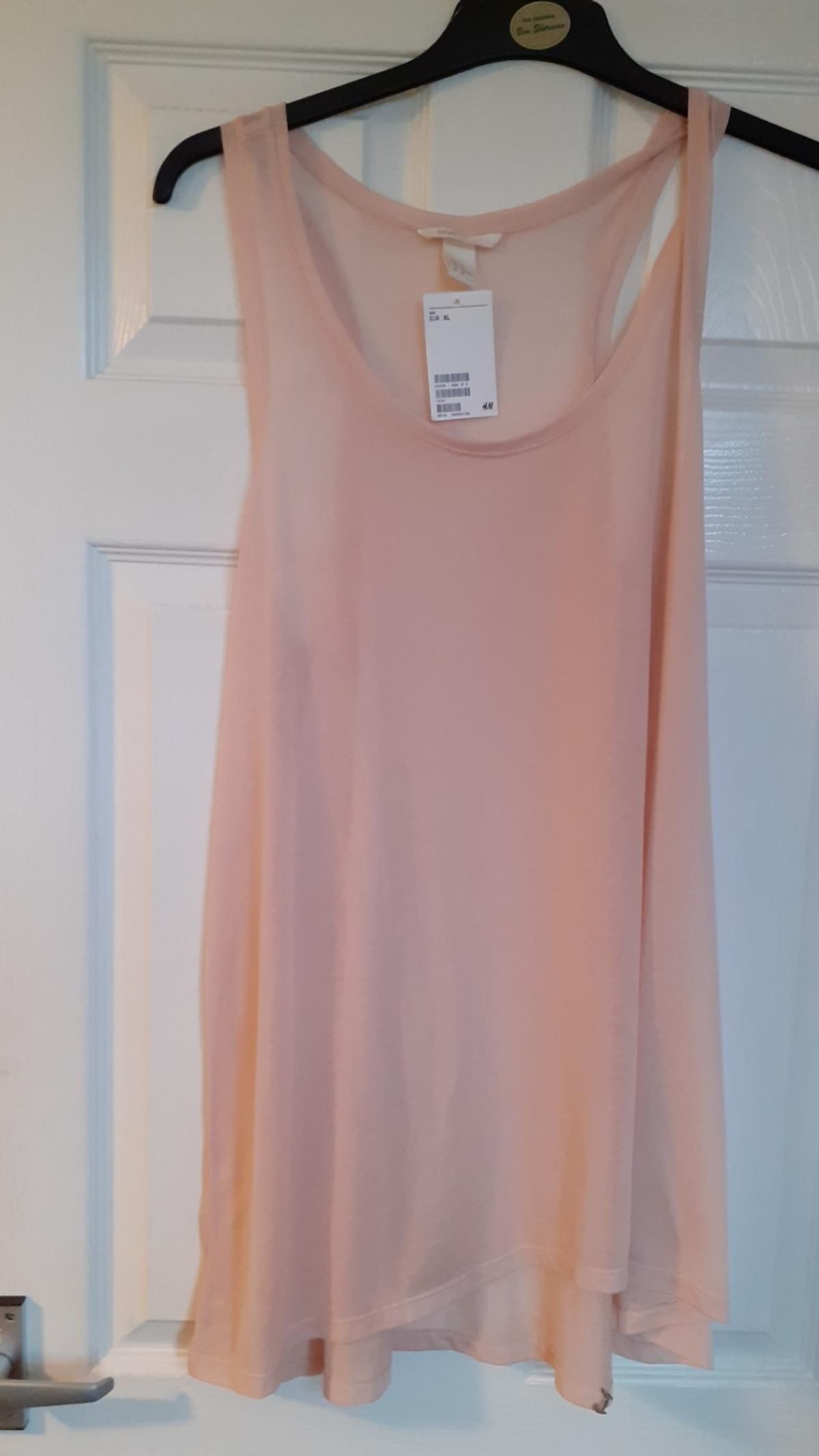 pale pink size xl h+m top bnwt collection only
