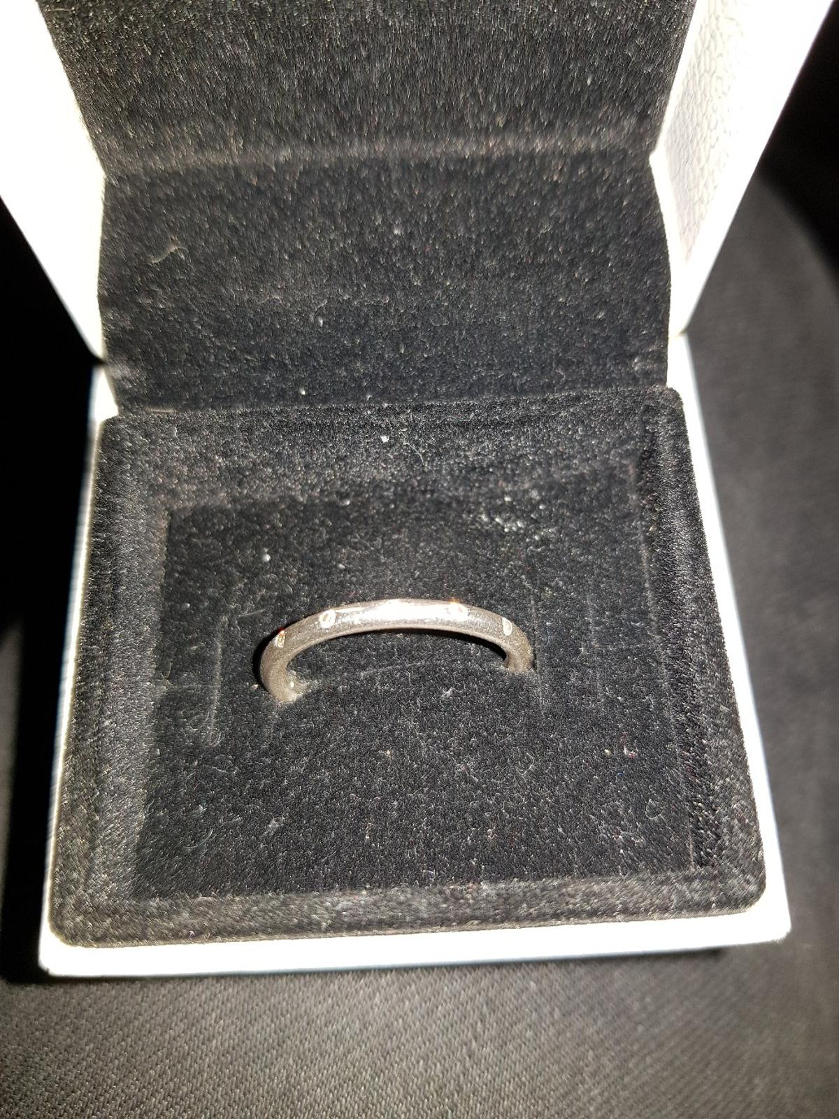 Pandora stacking ring with cz stones all round. comes with box. Collection Only