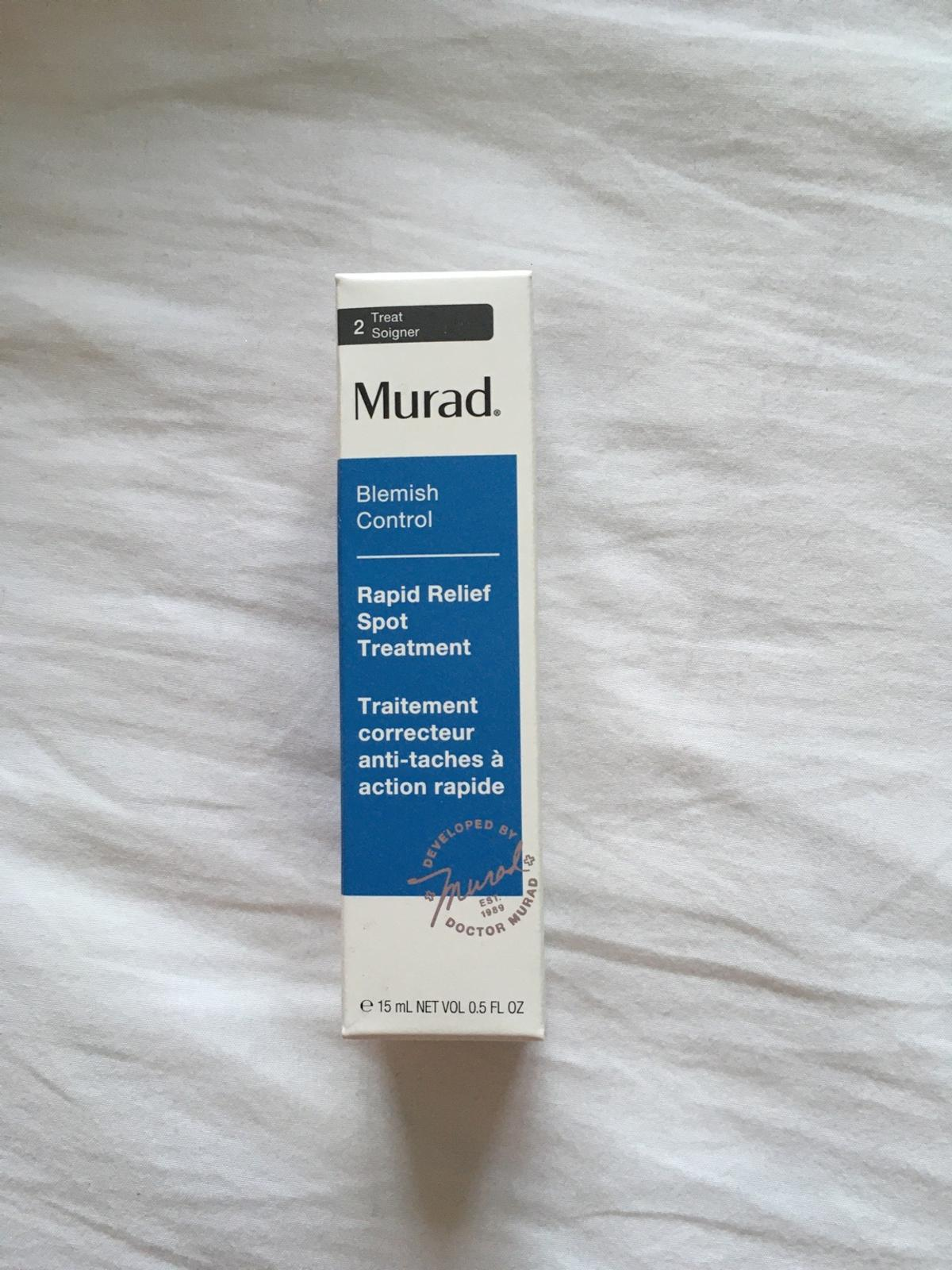 "Blemish Control ""Rapid Relief Spot Treatment""  RRP £20  £16 ONO Will post if all fees covered :)  Also selling other Murad products, deal for more than 1 brought and can combine postage :)  Pet and smoke free home"