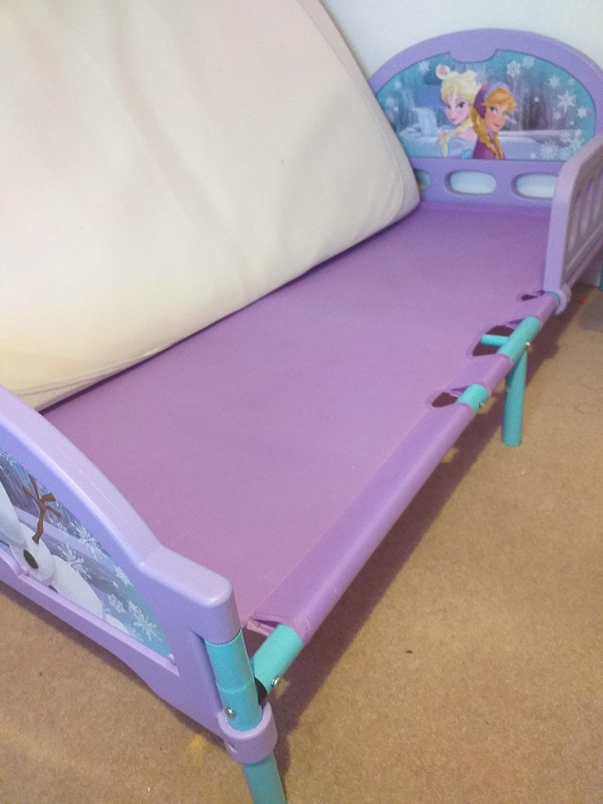 includes matress with waterproof cover, in good condition, suitable for upto 7 years