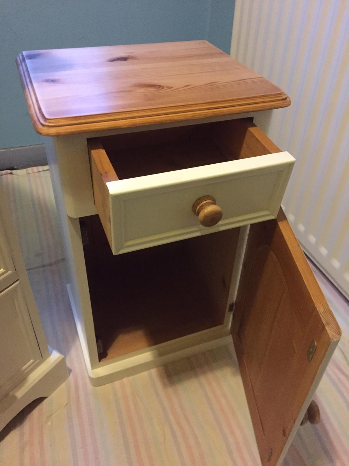 solid pine and cream bedroom furniture