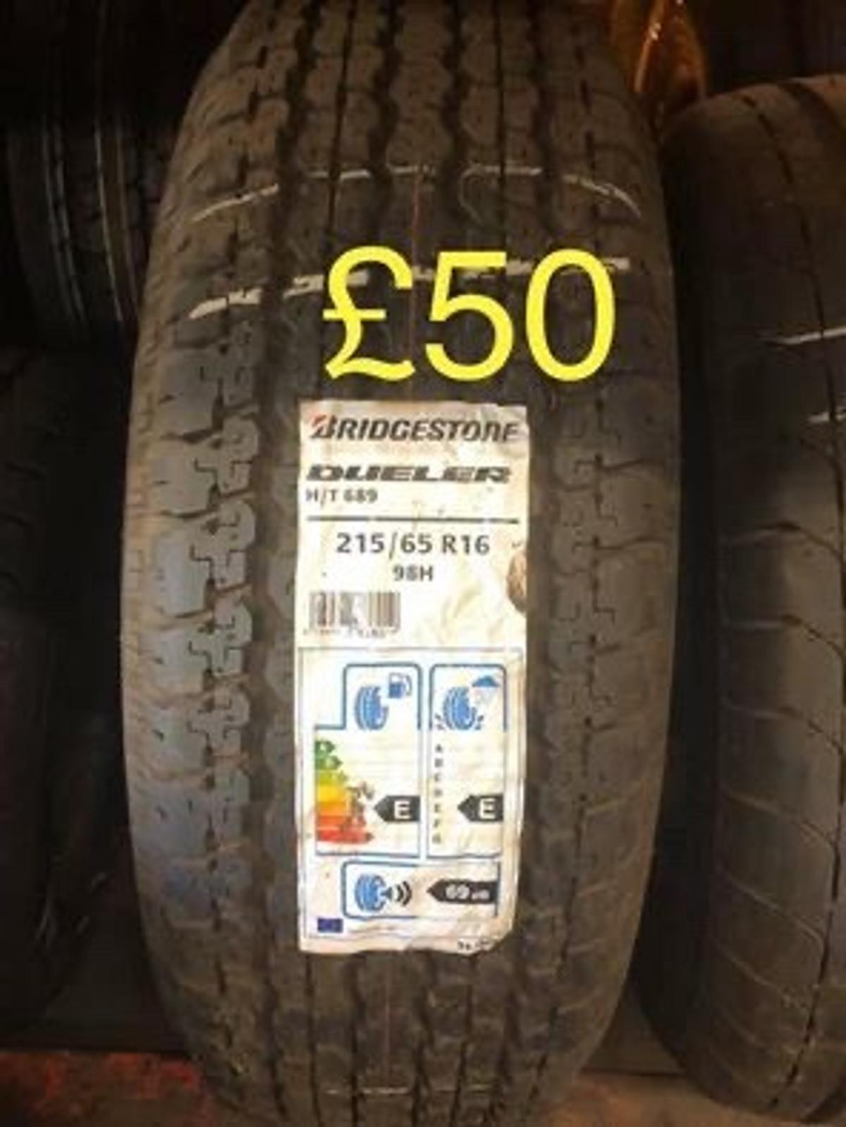 215/65x16 98H New bridgestone H/T689 tyre  Tyre can be fitted