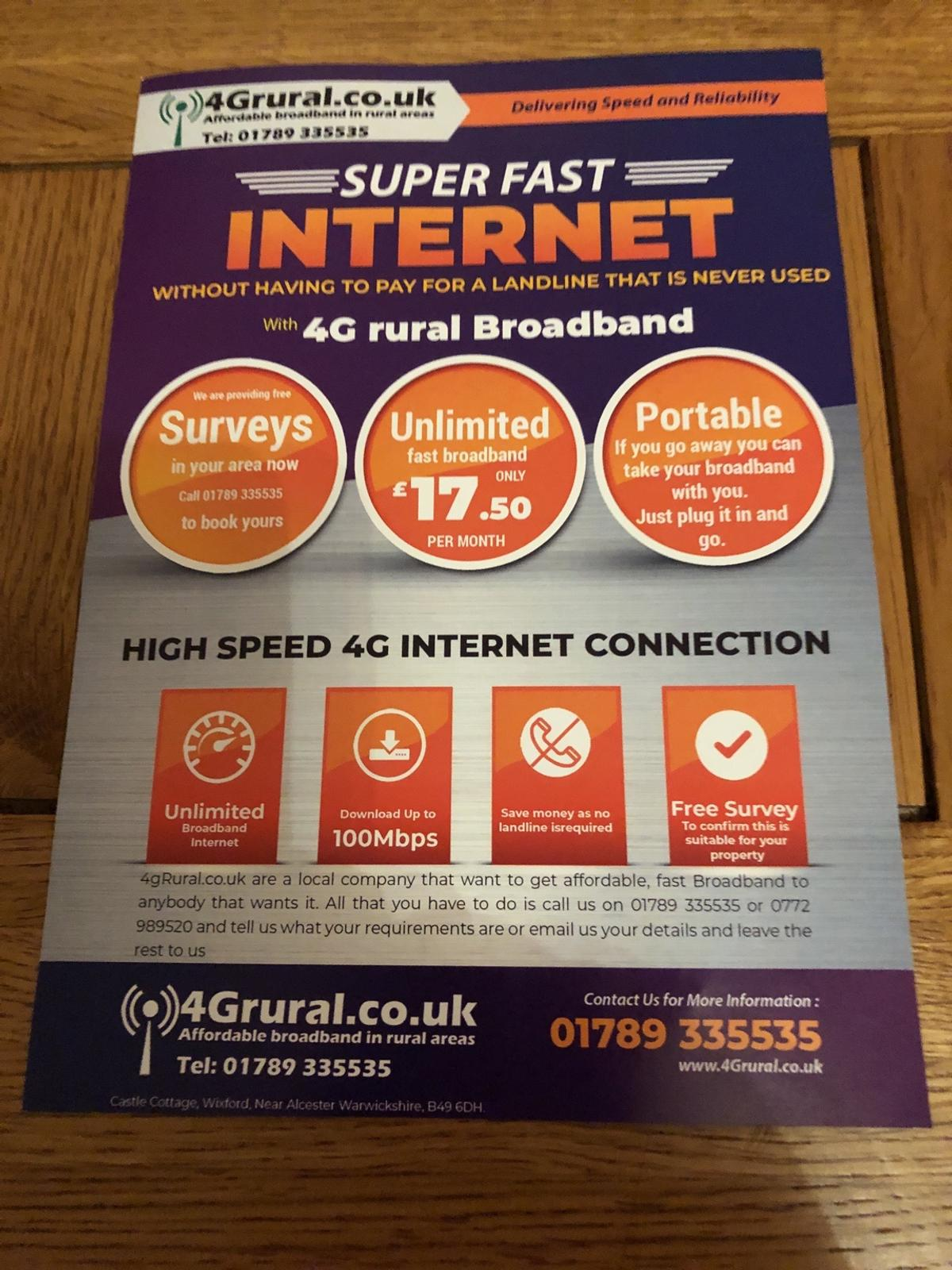 Great deal on super fast internet free fitting