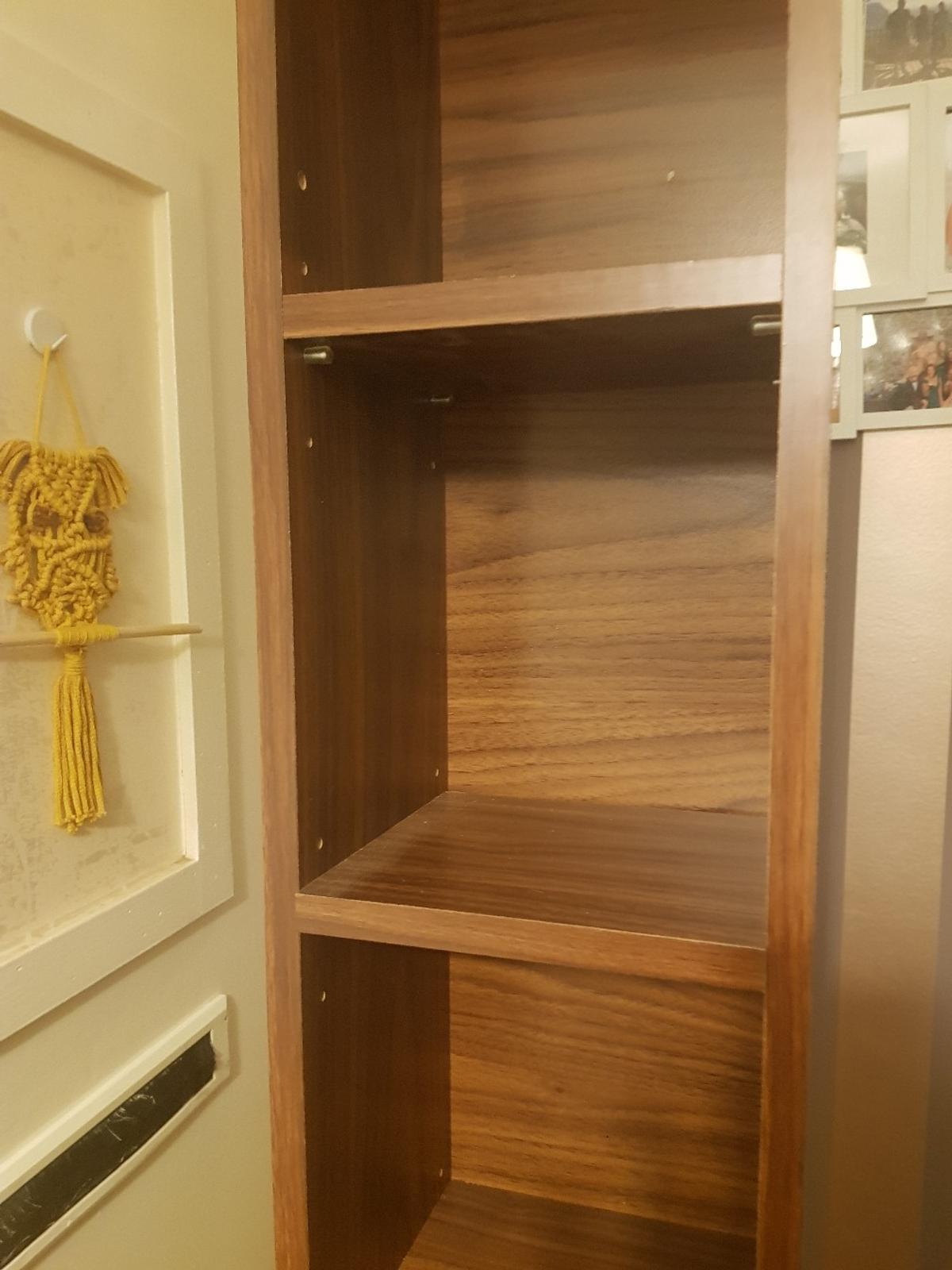 Hi, Im selling a used cd/DVD bookcase. Initially bought from IKEA. Good condition - Dark brown colour  H - 183cm W- 21cm D- 21 cm