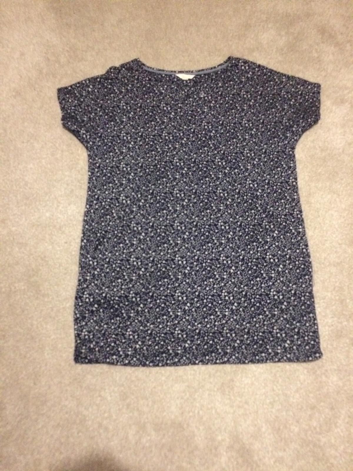Blue and white White Stuff tunic top size 14. Stretchy so very comfortable with jeans or leggings.
