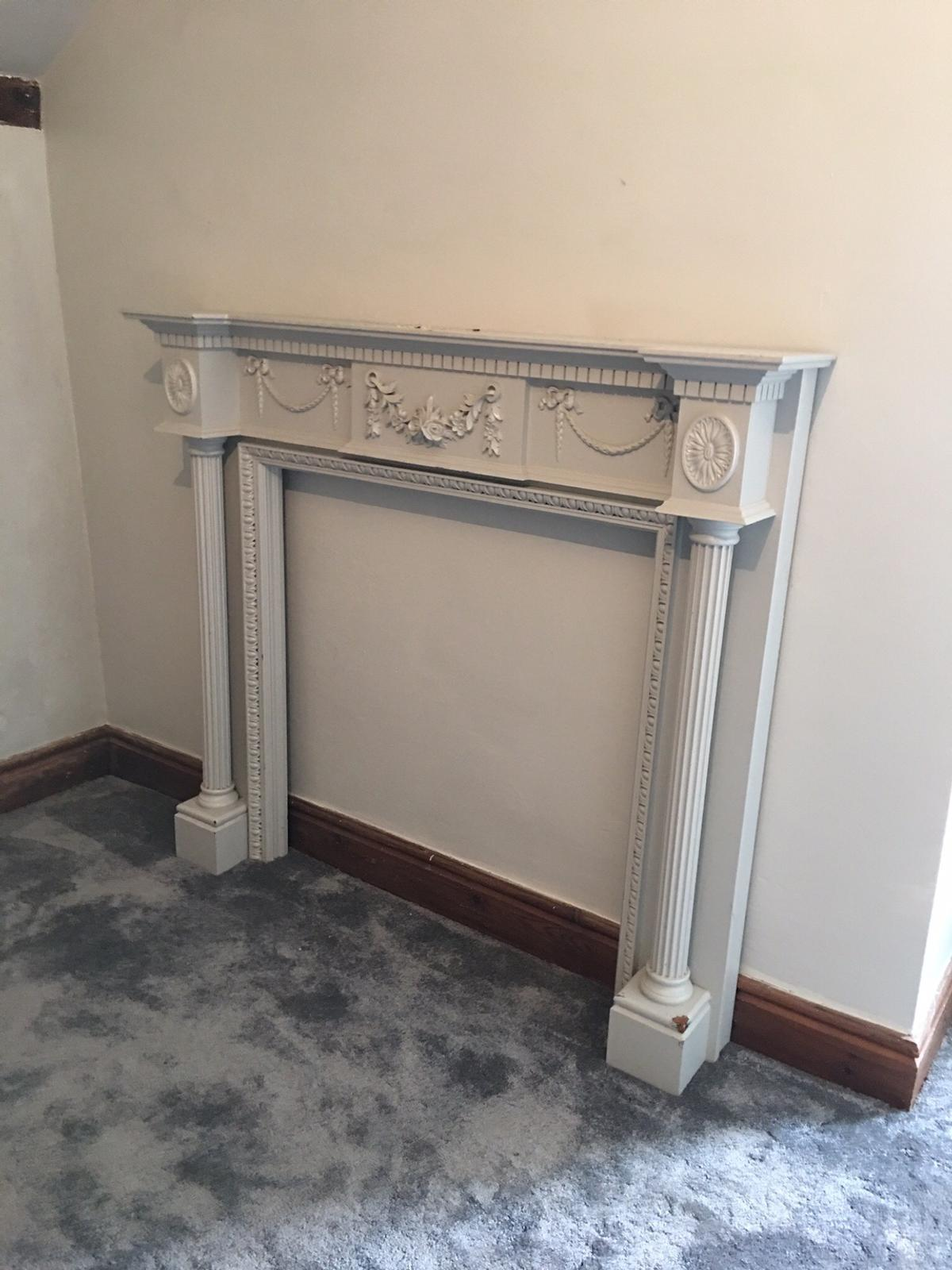 Free- fire place surround Buyer must collect from oswestry- shabby chic project Made out of solid mahogany.