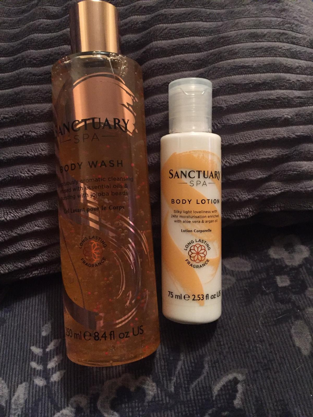Brand new sanctuary set body wash and body lotion