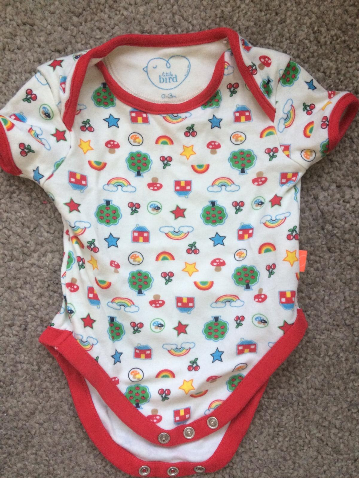 Lovely baby vests, excellent condition. 0-3 months. Both are Little Bird. I love the Retro look of them.  From a clean, smoke and pet free home.  Thanks for looking. Please see my other items.
