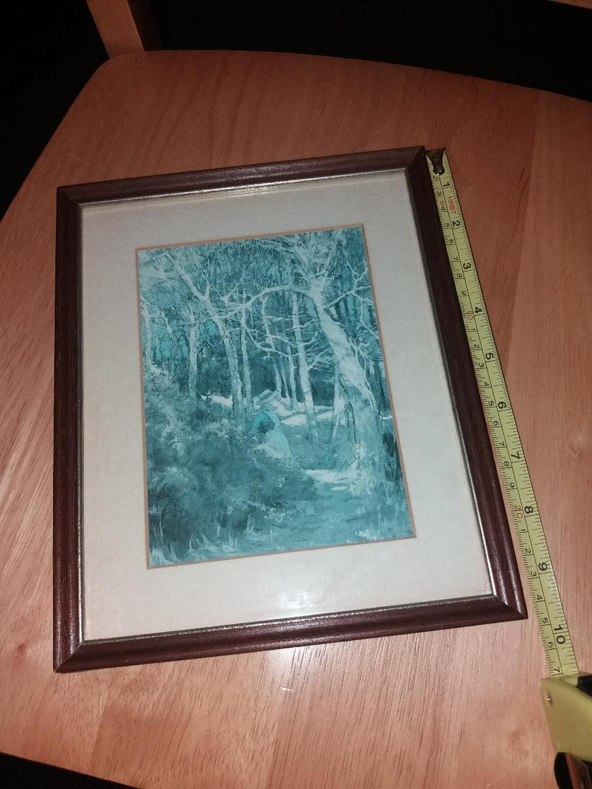 picture framed at Susan Peach Gallery see label on back for other info  frame measures 24.5cm by 20cm  collection after 6pm Monday to Friday unable to deliver  postage is extra if posting