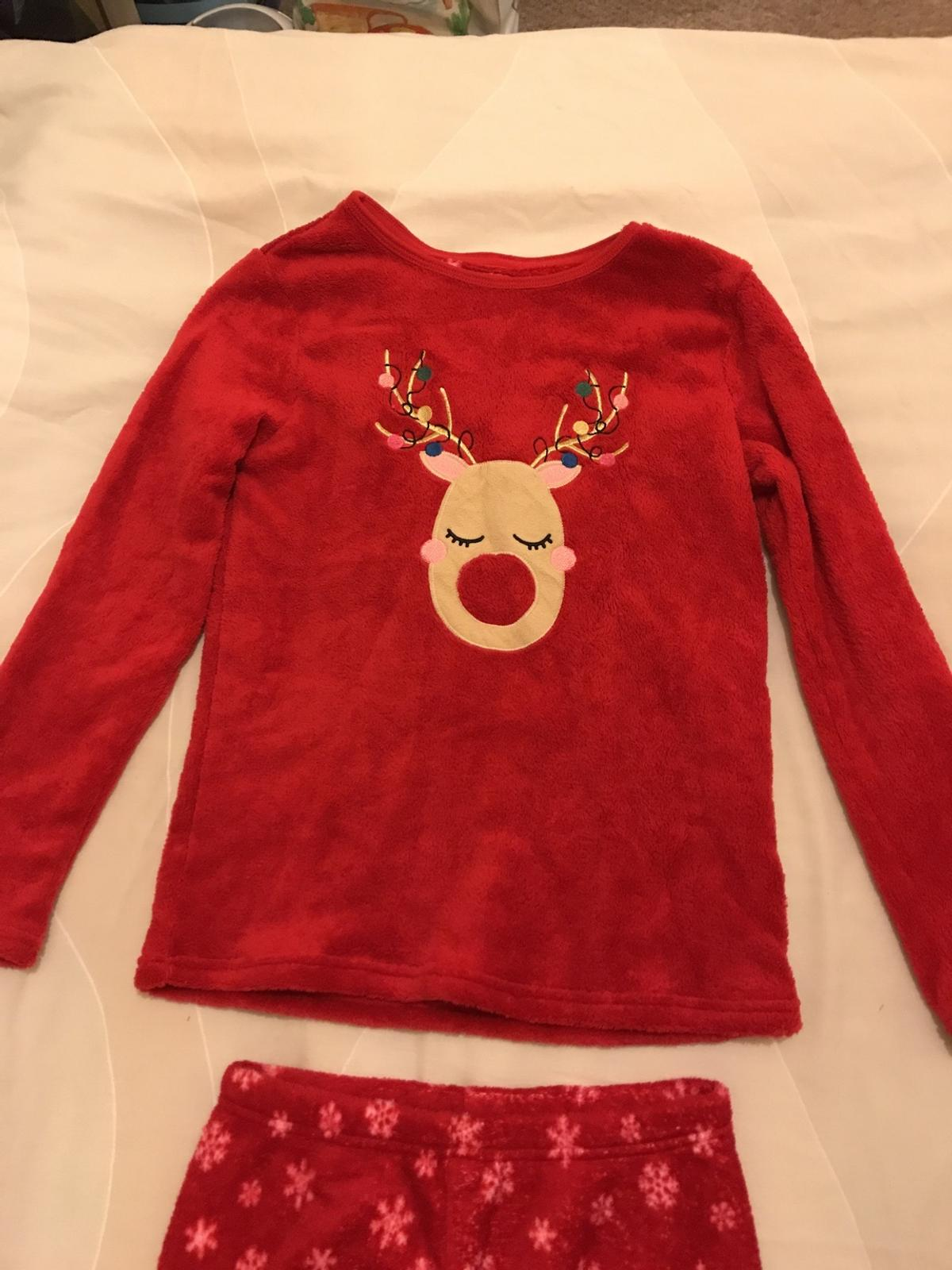 Red fleece warm pjs from Primark Age 11-12 years
