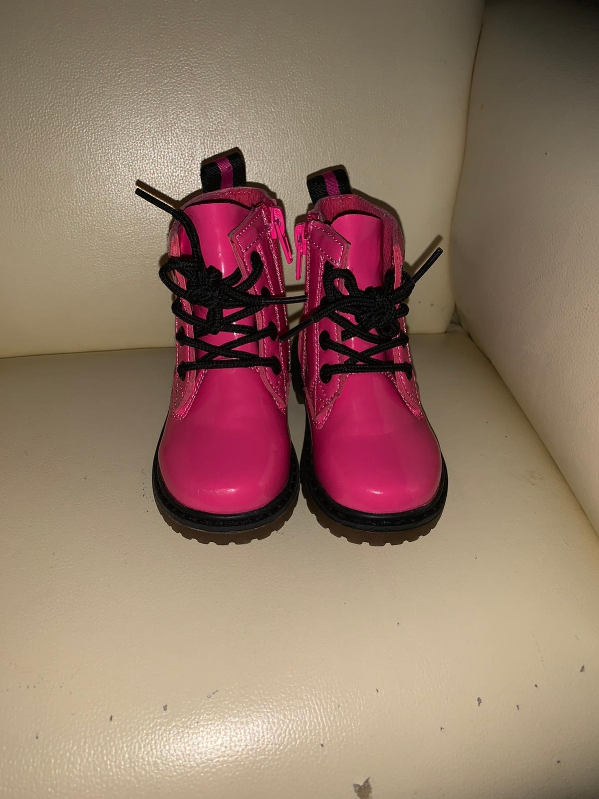 Girls infant size 5 boots has a small scuff on front of one boot but not noticeable unless right up close