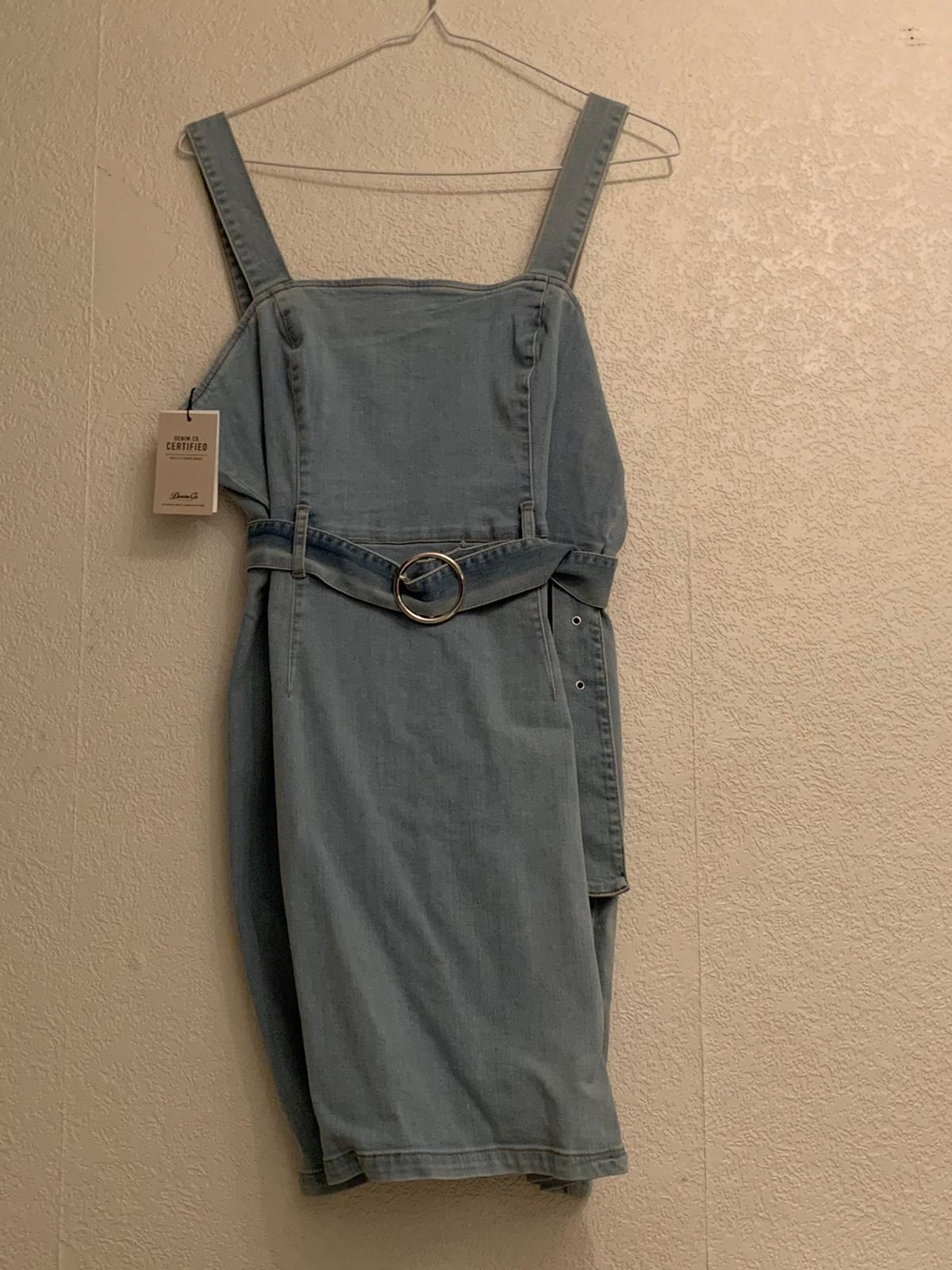 Primark denim summer dress New with tags Size 16 true to size