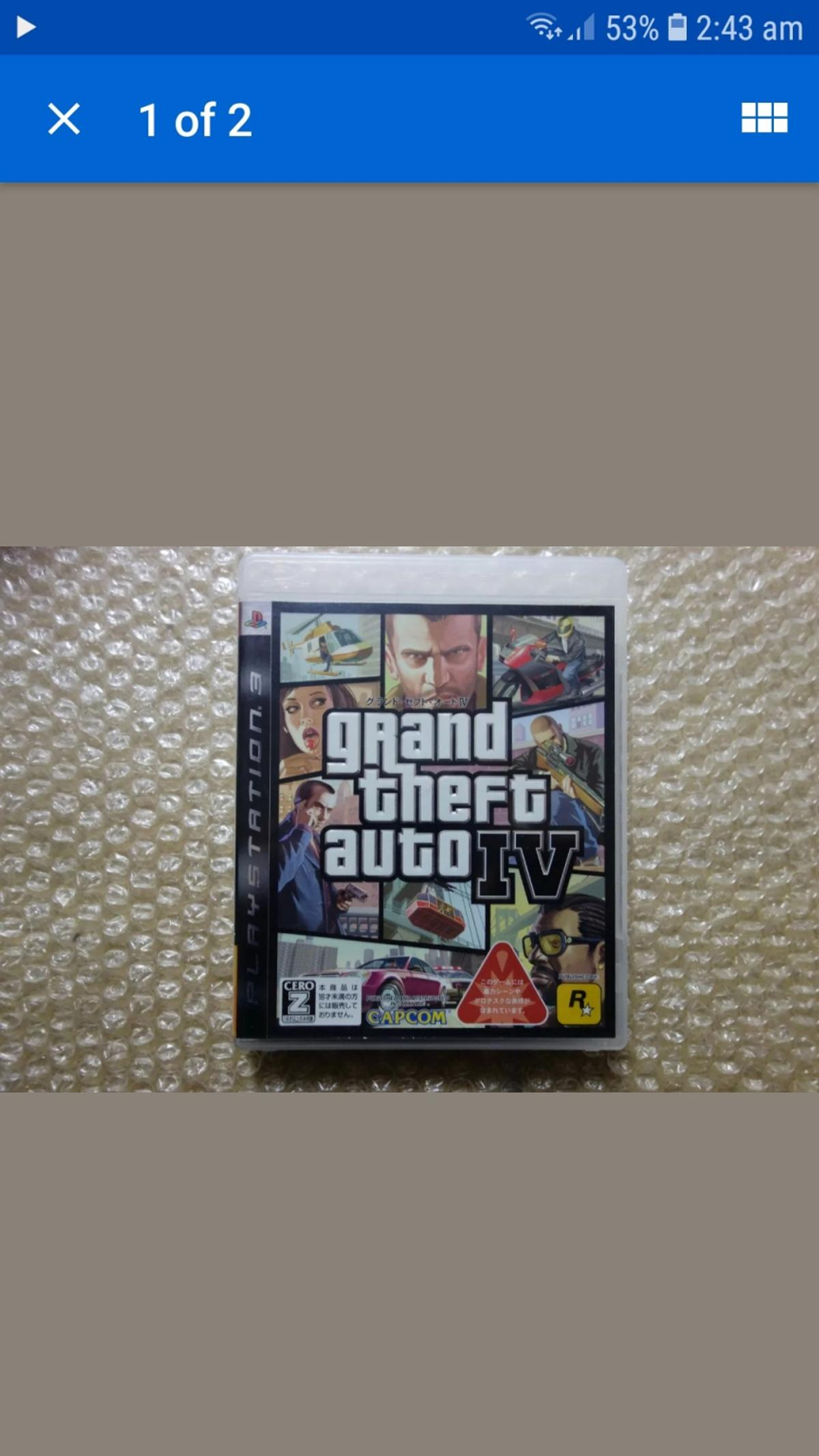 Ps3 Gta 4 Japanese Game Region Free In St1 Trent For 9 50 For Sale Shpock
