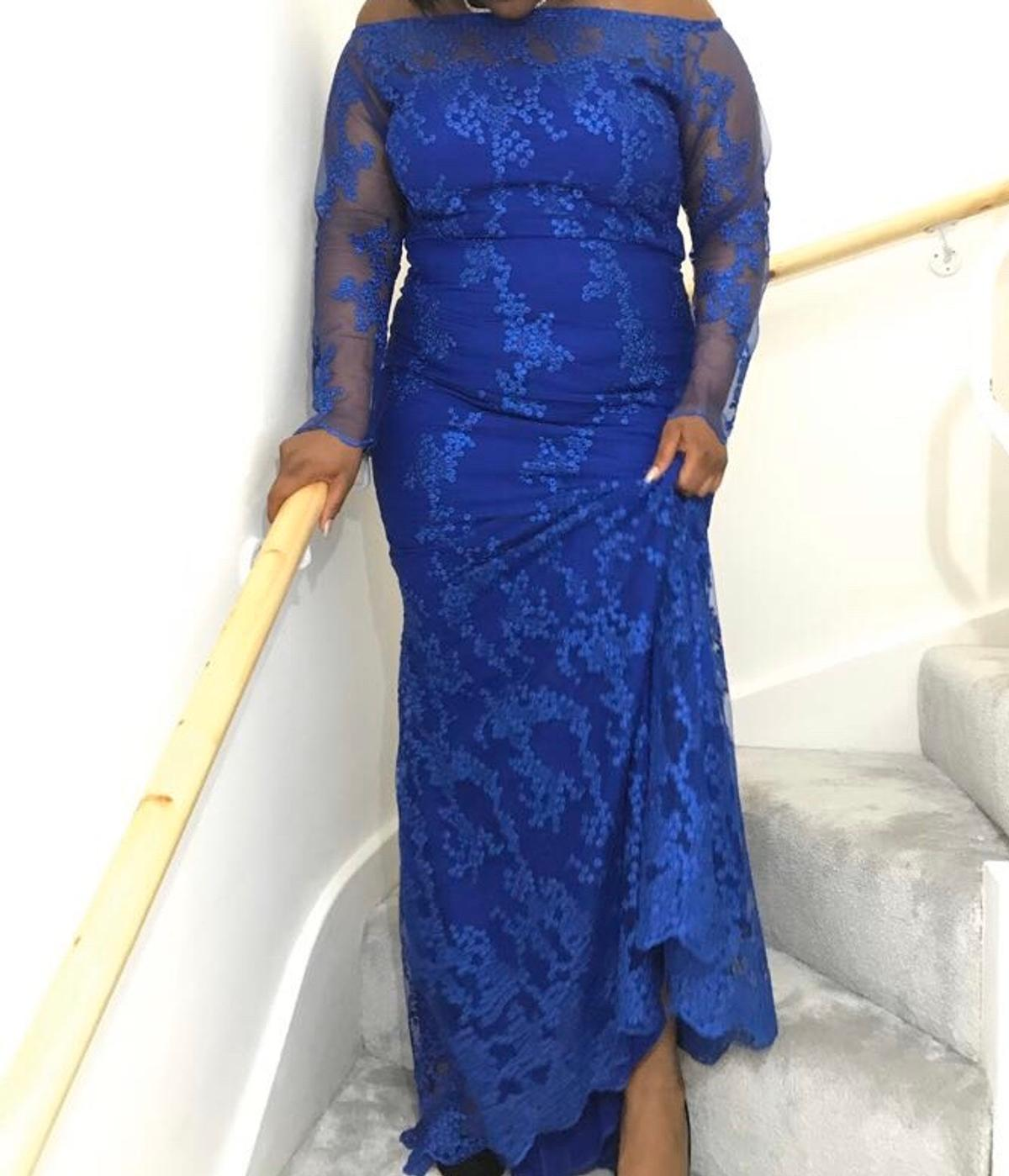 Professionally Made Royal Blue Lace Dress In Cr0 London For 250 00 For Sale Shpock