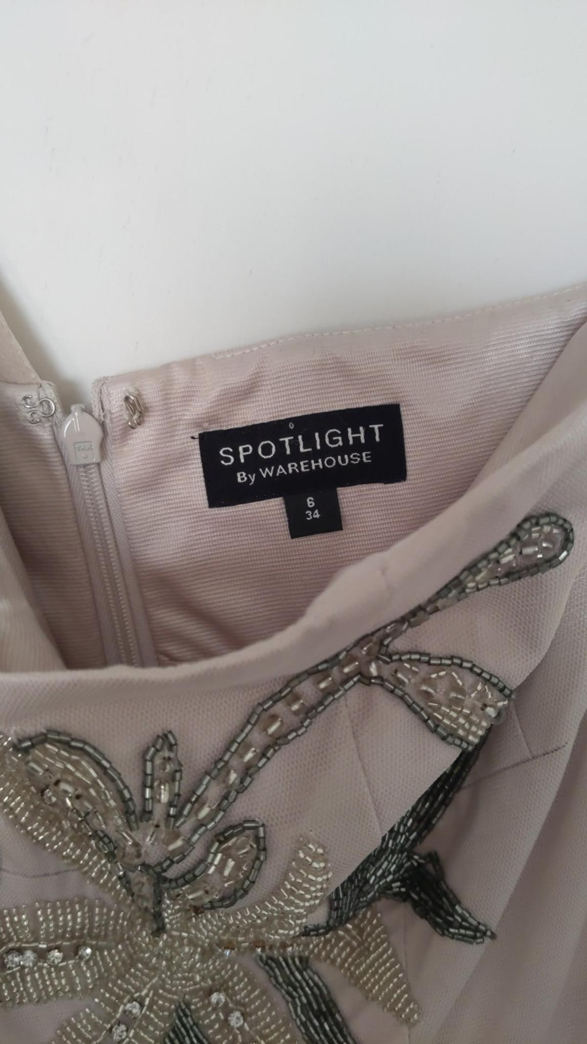 Stunning beaded dress by Spotlight at Warehouse, this is a size 6 and has only been worn once. Collection only although can arrange delivery at extra cost.