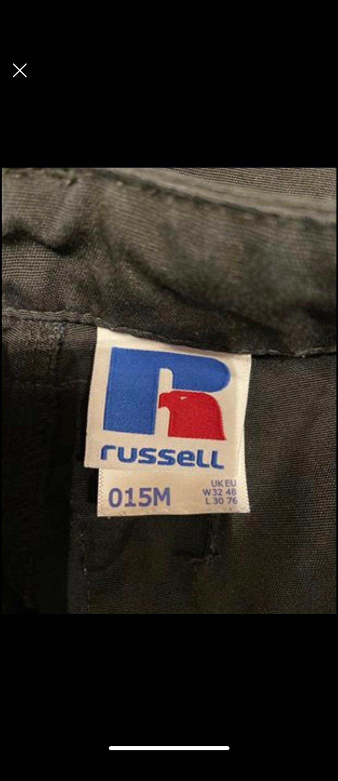 In excellent condition, 4 pairs of Russell Heavy duty work trousers, bought for £30 each. Only worn a few times still in excellent condition.