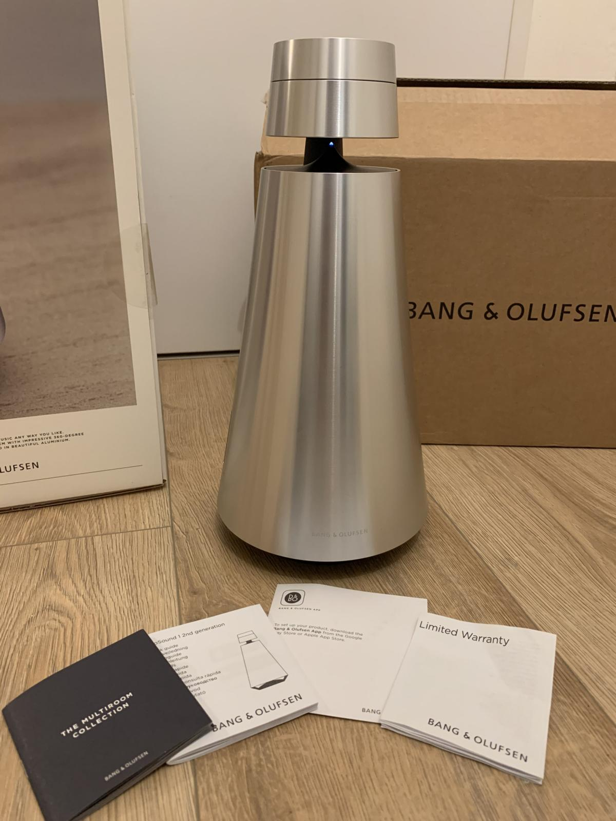 • Bang & Olufsen BeoSound 1 Wireless Speaker • Condition 10/10, used only 2 weeks (christmas gift) • With box, papers, garranty, and main cable • Shipping from France