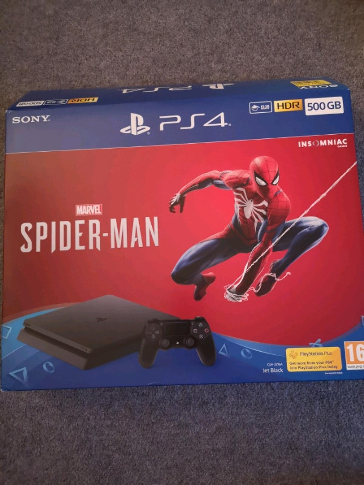 500GB PlayStation 4 and Spiderman Game. It excellent condition and comes with 1x controller.