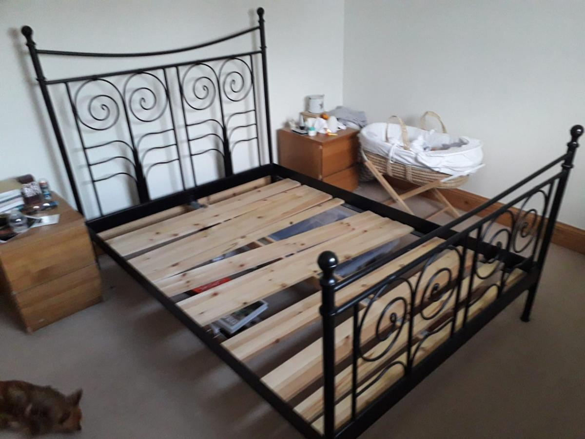 Iron Double Bed Frame In Guilden Sutton For 50 00 For Sale Shpock