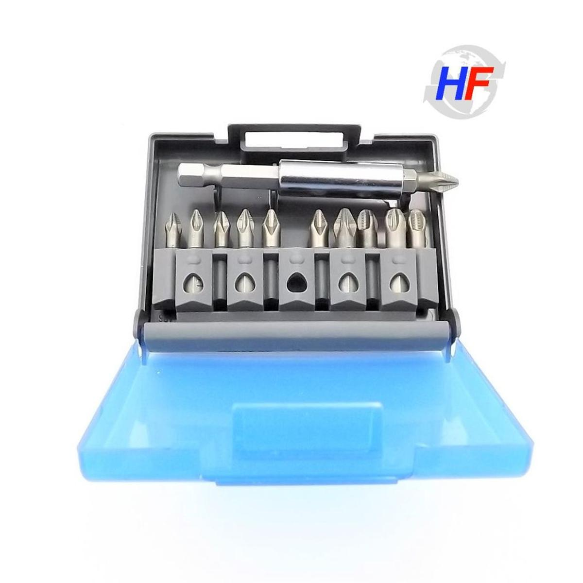 PH2 Silverline Anti-Slip S2 Screwdriver Bit Set PH1 PZ3 7 Piece PH3 PZ1 PZ2