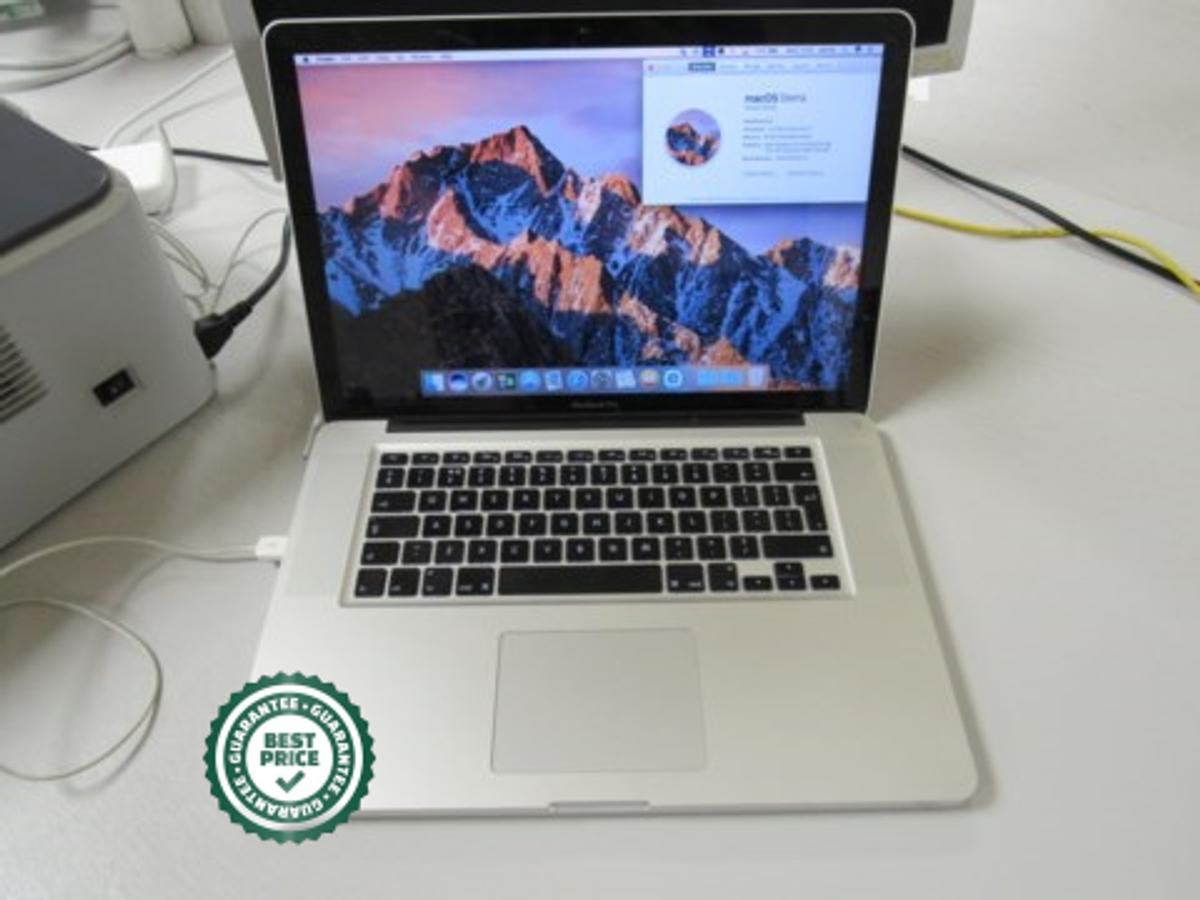 Macbook Pro Laptop 15.4 Inch Screen,  Processor 2.2 GHz Intel Core i7, Memory 16GB 1333MHz DDR3, Graphics AMD Radeon HD 6750M, 512MB Intel HD Graphics 3000 512MB due in 31 Jan