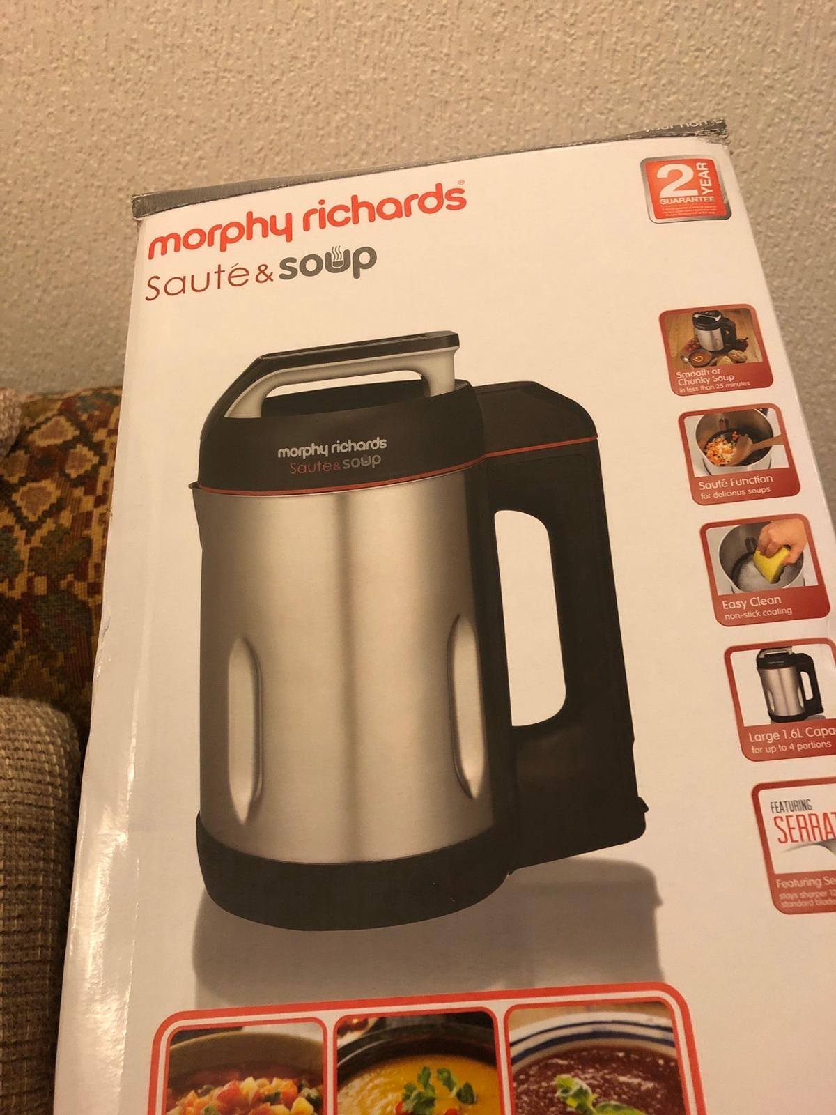Morphy Richards Soup Maker In Tq1 Torquay For 40 00 For Sale Shpock Make soups to your own recipes and simply select the smooth or chunky soup setting to make your favourite soups. shpock