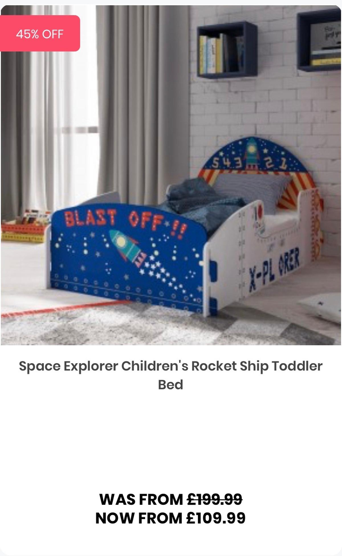 Picture of: Space Explorer Toddler Bed Matchin Bookcase In Dy11 Wyre Forest For 25 00 For Sale Shpock