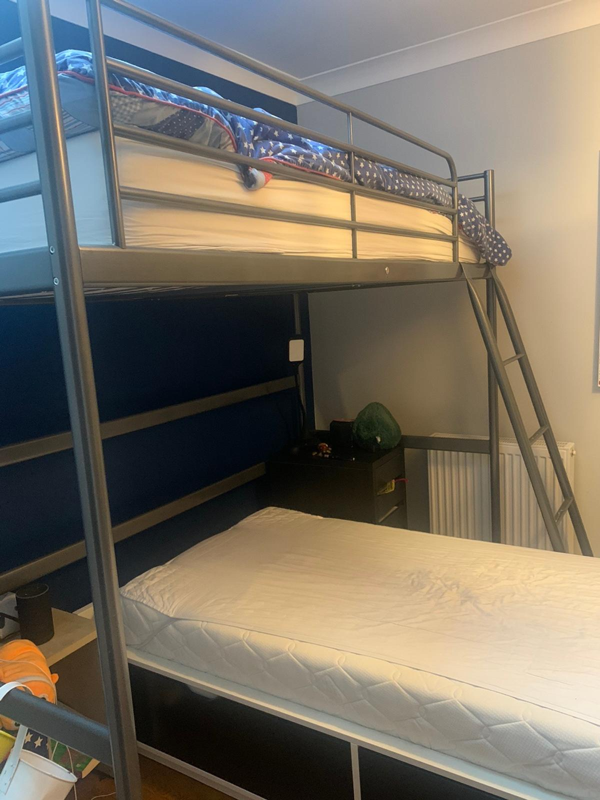 Ikea Metal Frame Bunk Beds With Trestle Bed In Al3 Albans For 100 00 For Sale Shpock