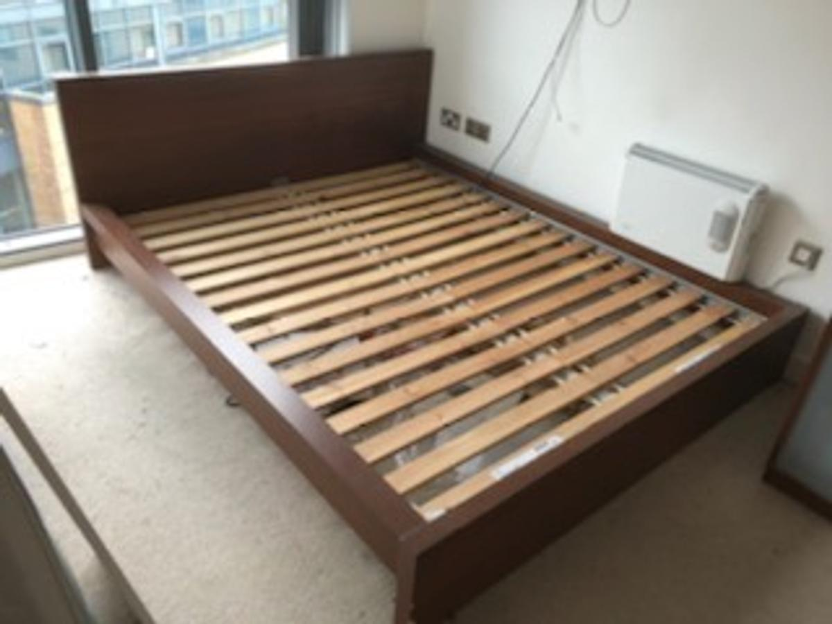 Ikea King Size Wooden Bed Frame Clean Mattr In S2 Sheffield For 99 99 For Sale Shpock