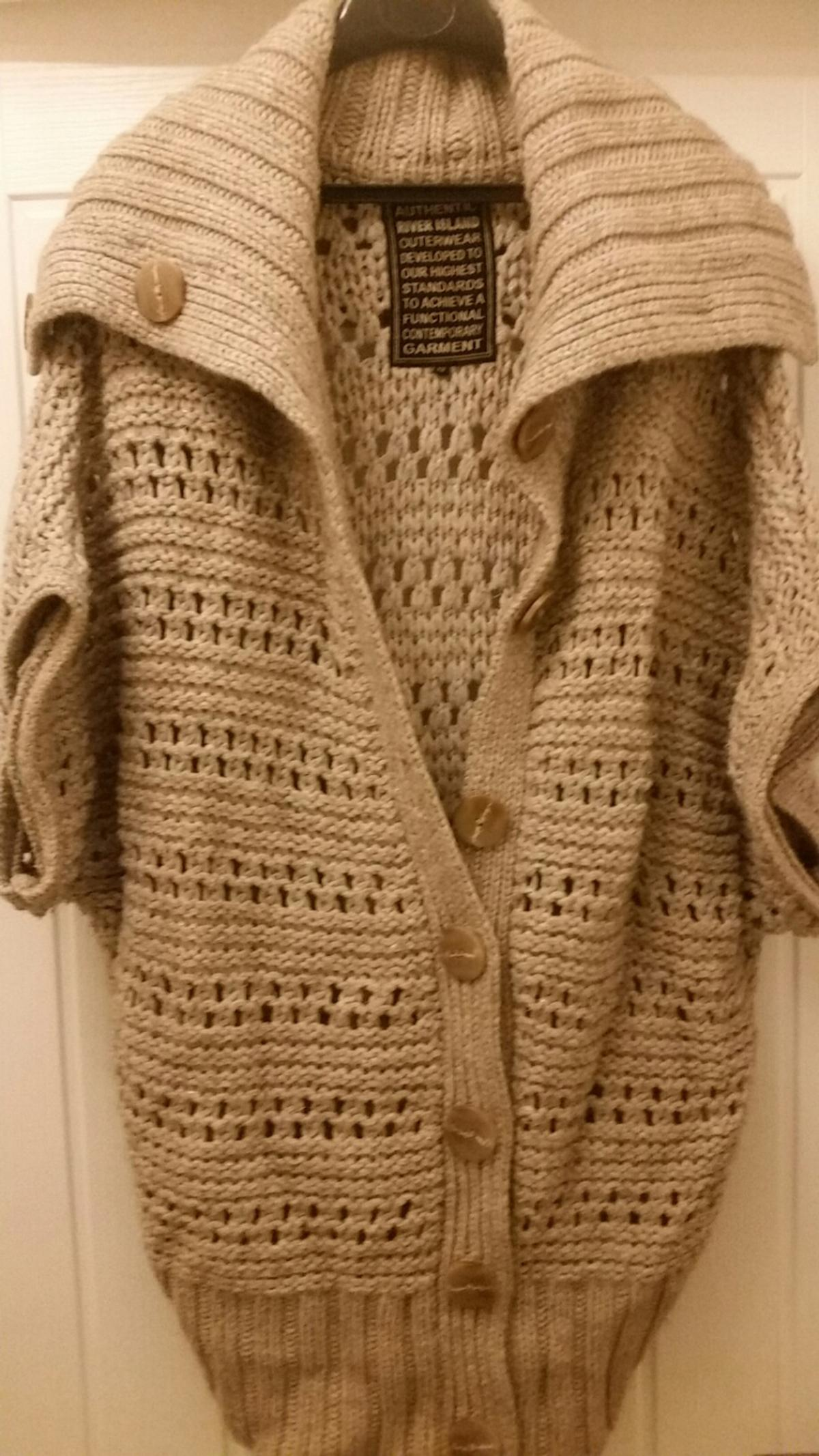 Chunky knit River Island thigh lenght Cardi in B14